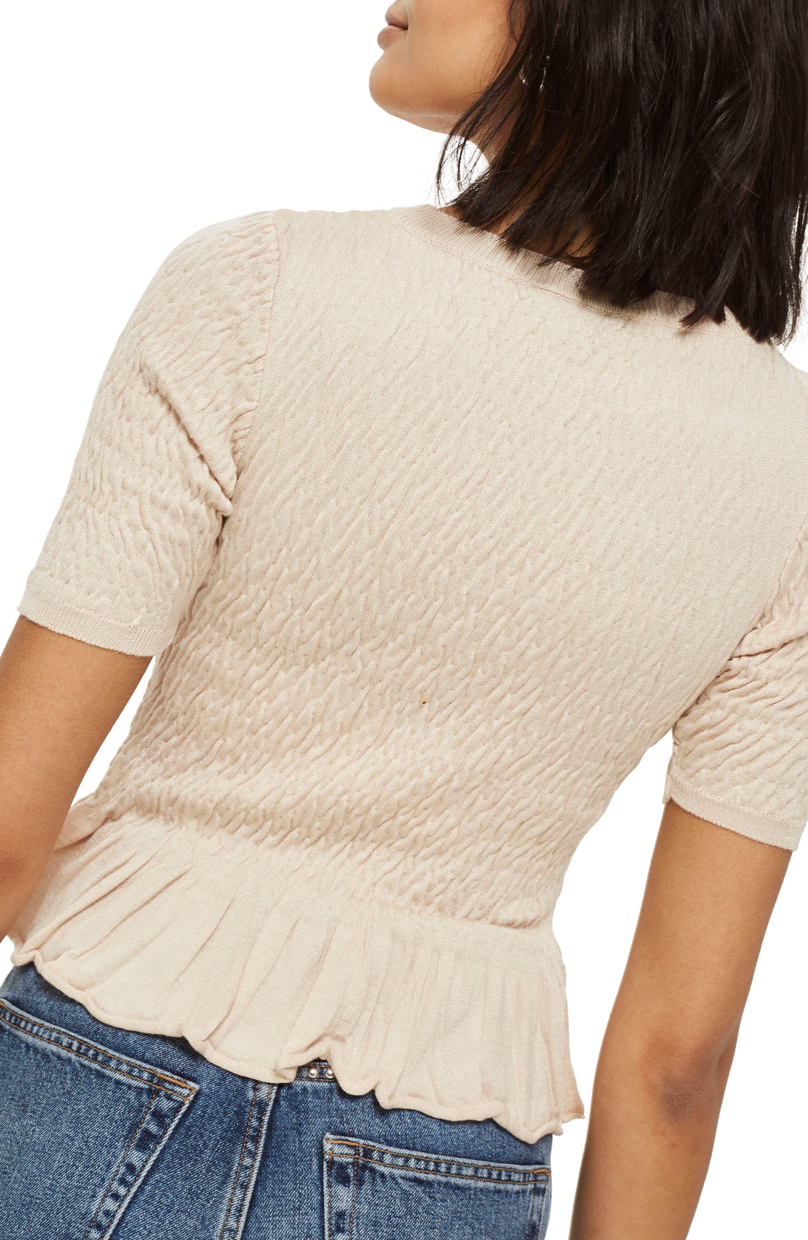 Shirred T-Shirt,                             Alternate thumbnail 2, color,                             250