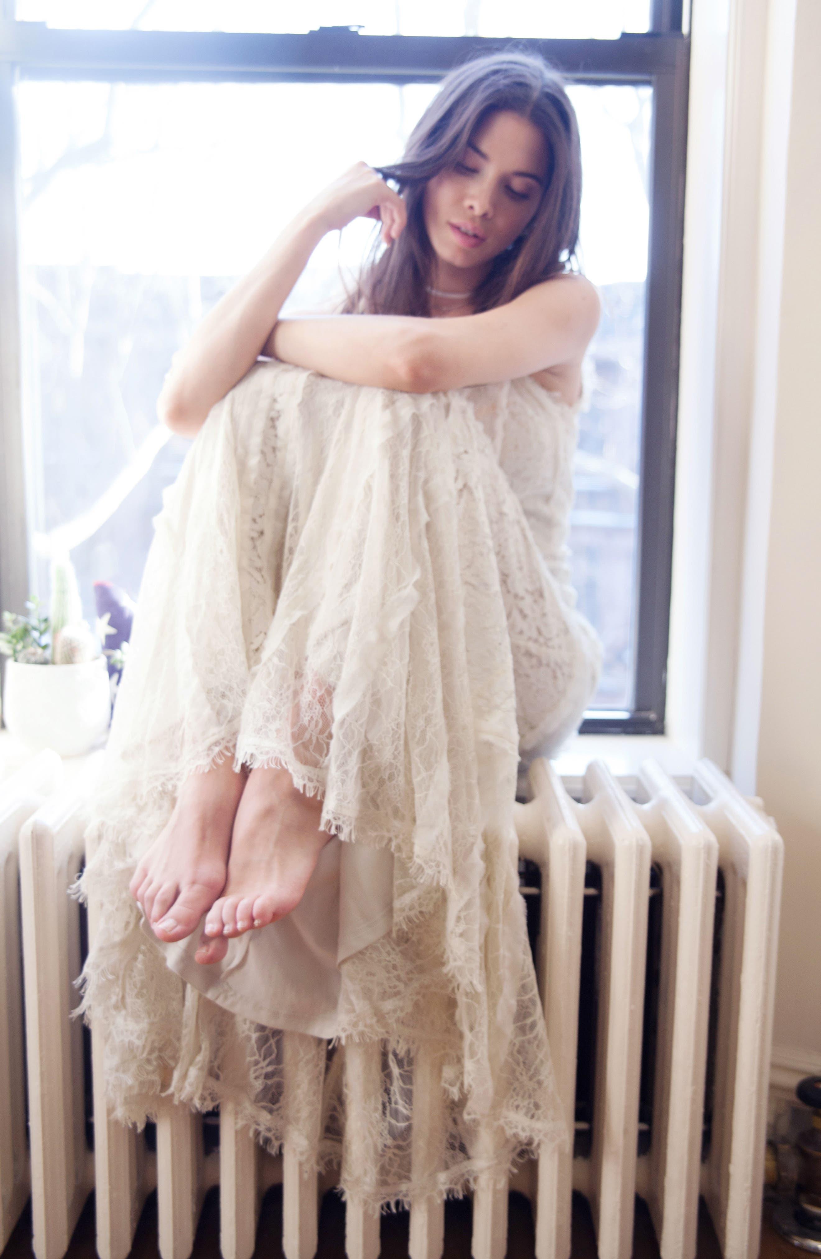 Felix Cutout Back Lace Fit & Flare Dress,                             Alternate thumbnail 6, color,                             101