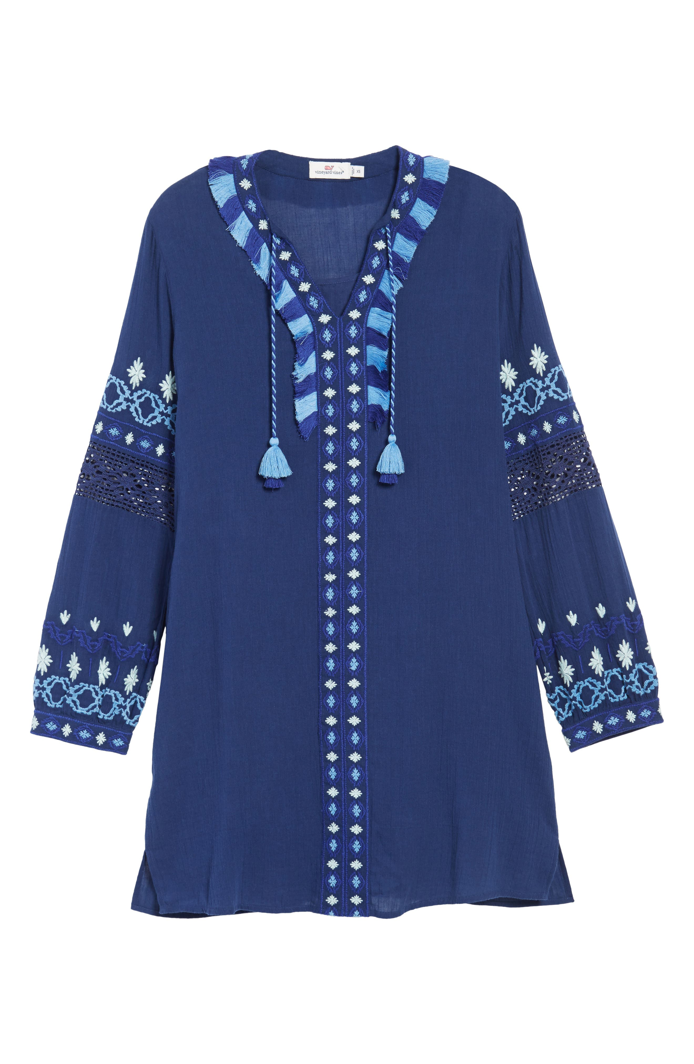 Solid Embroidered Cover-Up,                             Alternate thumbnail 6, color,                             476