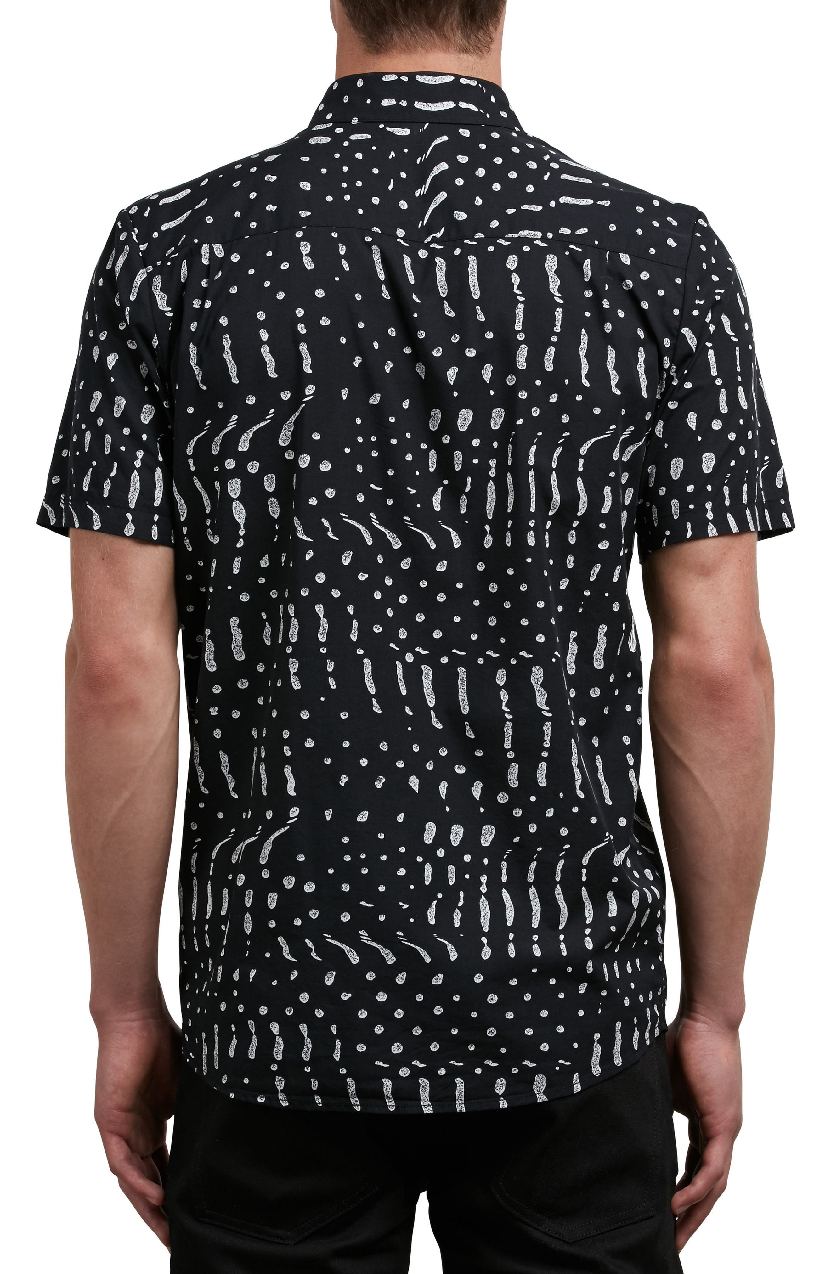 Drag Dot Woven Shirt,                             Alternate thumbnail 2, color,                             001