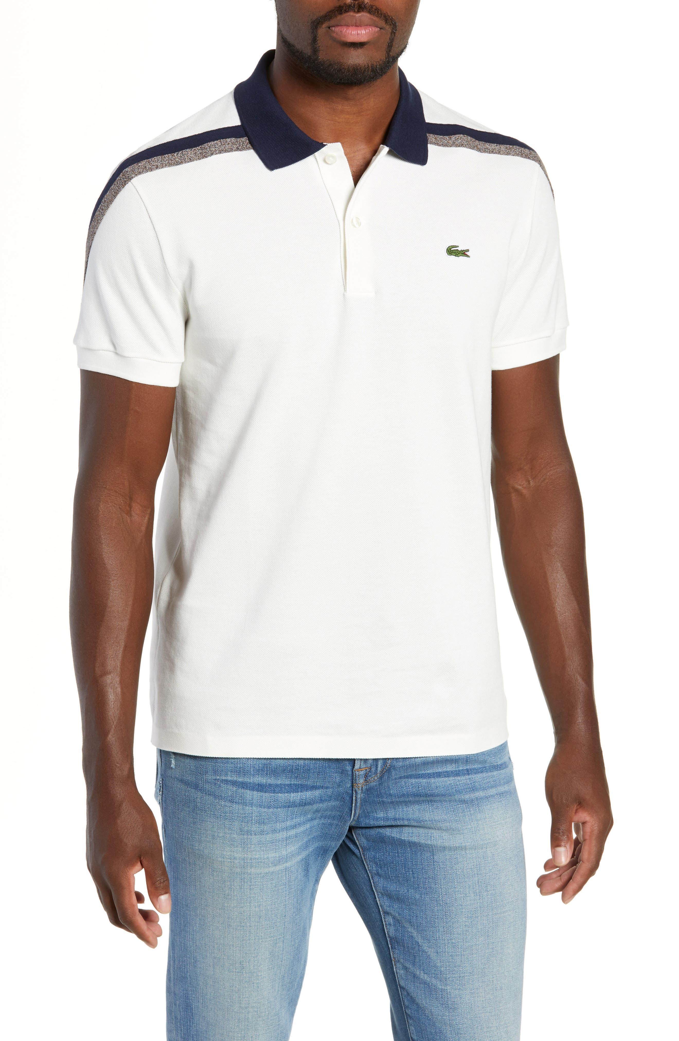 Slim Fit Piqué Polo,                         Main,                         color, FLOUR/ FLOUR