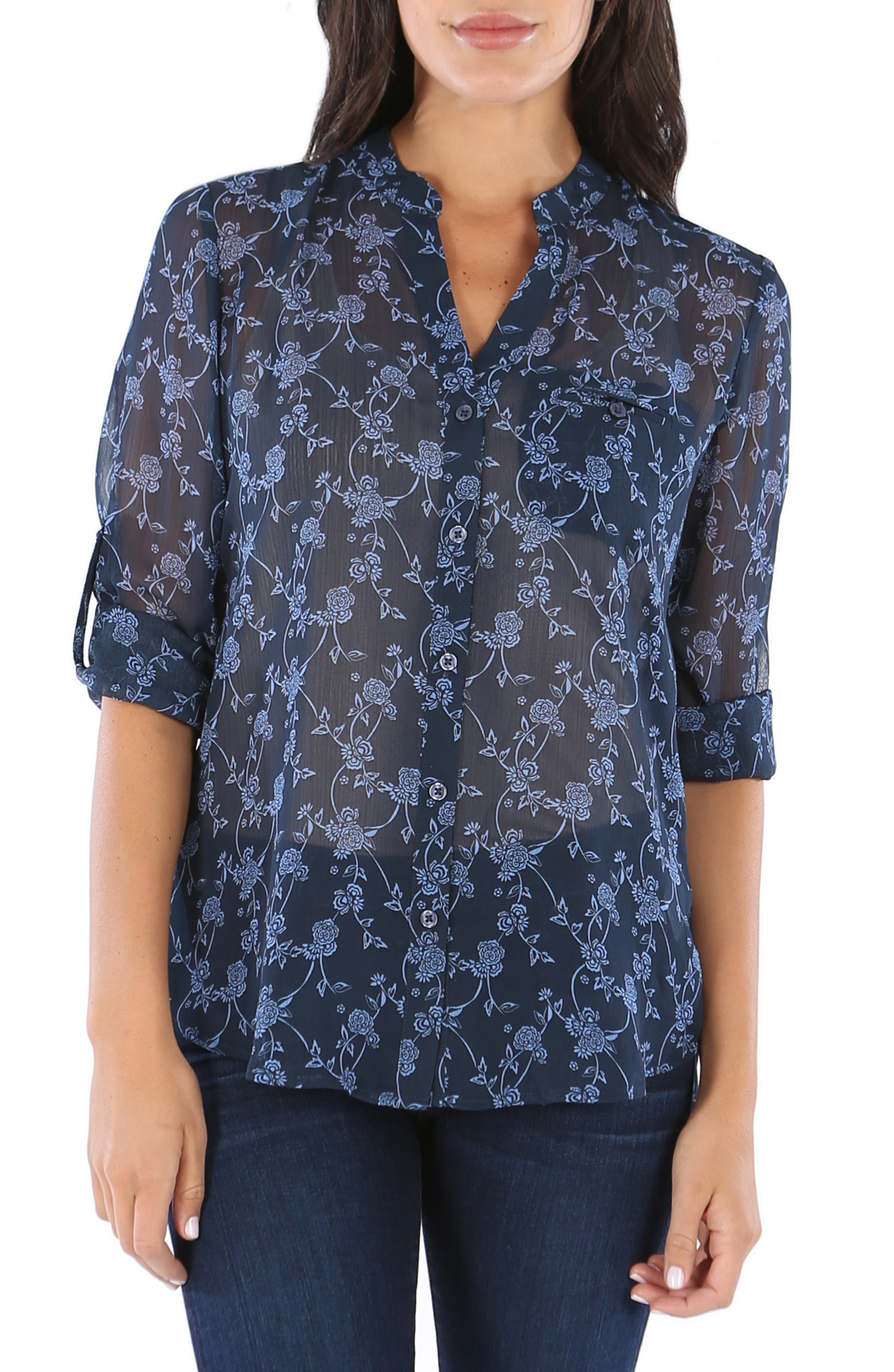 KUT from the the Kloth Jasmine Floral Blouse,                             Main thumbnail 1, color,                             416