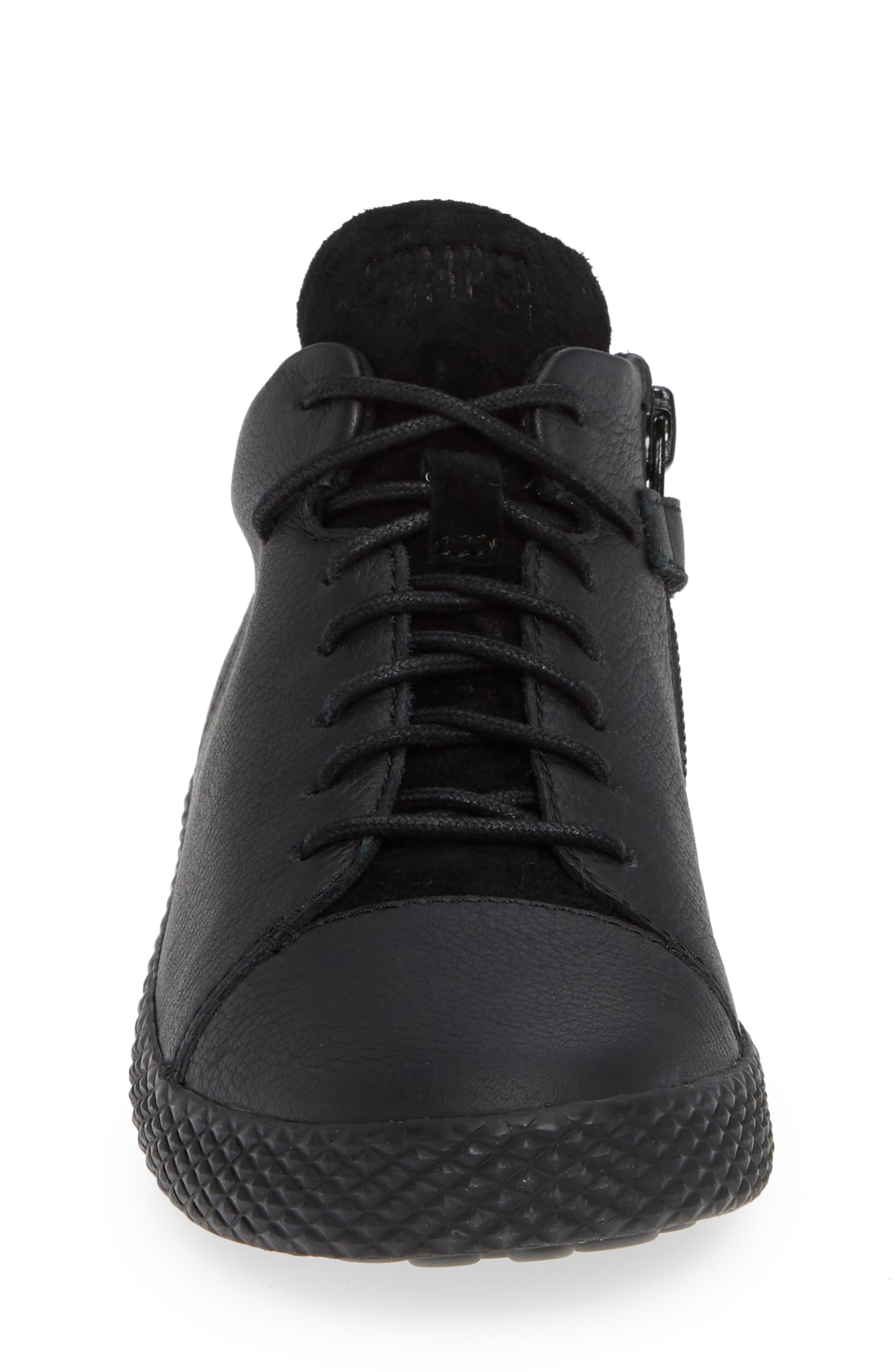 Pursuit Sneaker,                             Alternate thumbnail 4, color,                             BLACK