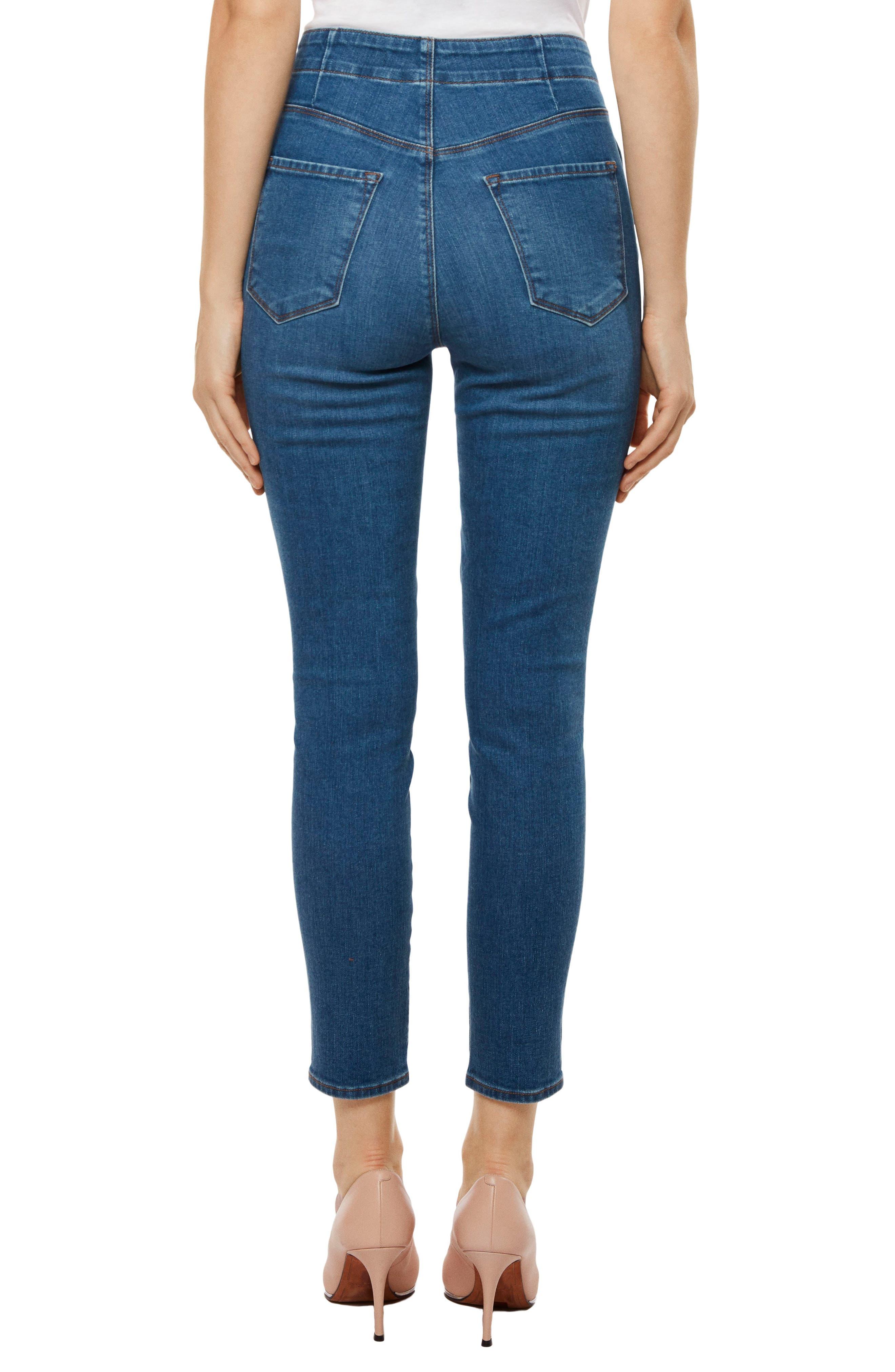 Natasha Sky High High Waist Crop Skinny Jeans,                             Alternate thumbnail 2, color,                             LOVESICK