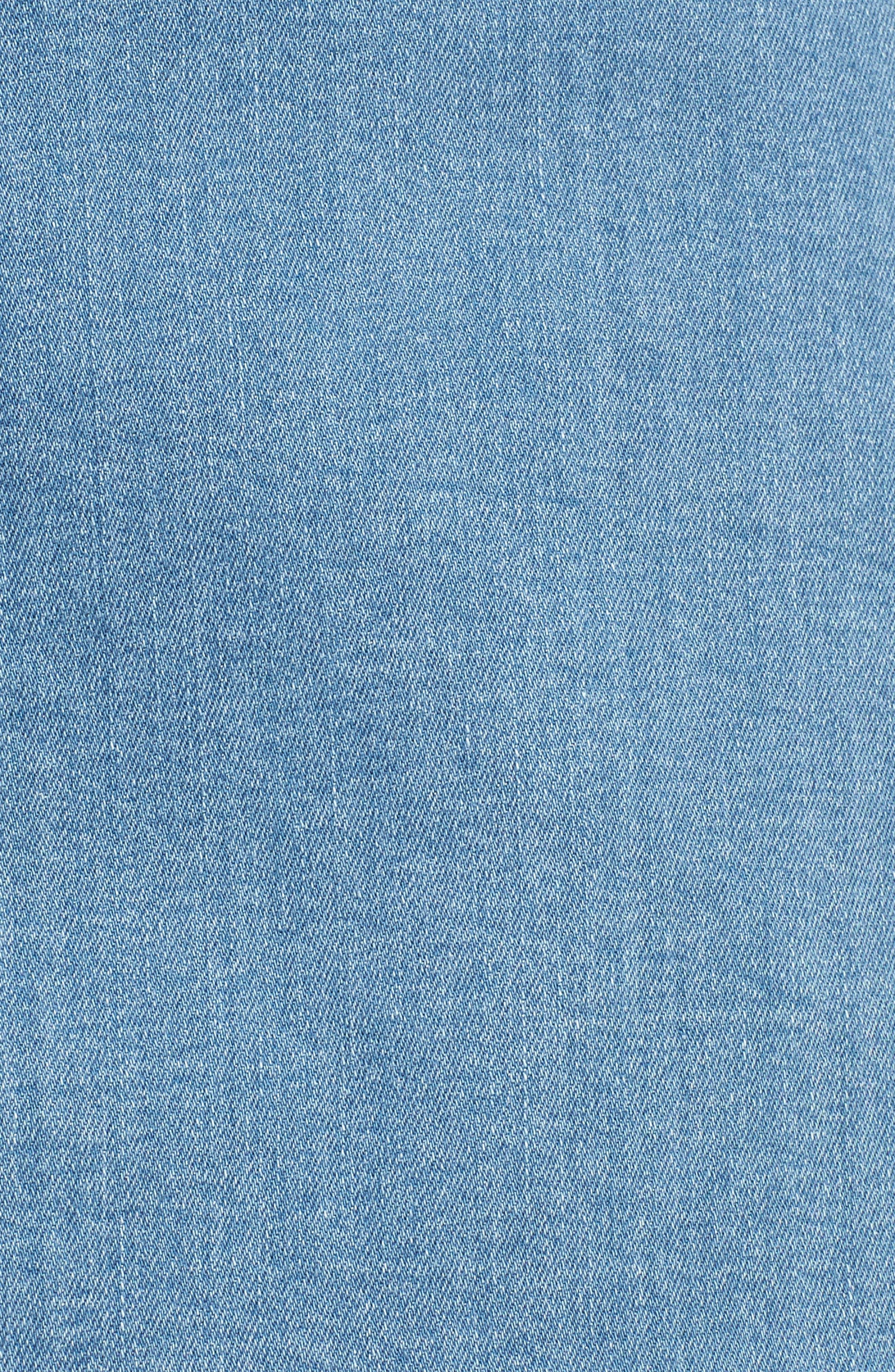 Scallop Denim Skirt,                             Alternate thumbnail 5, color,                             420