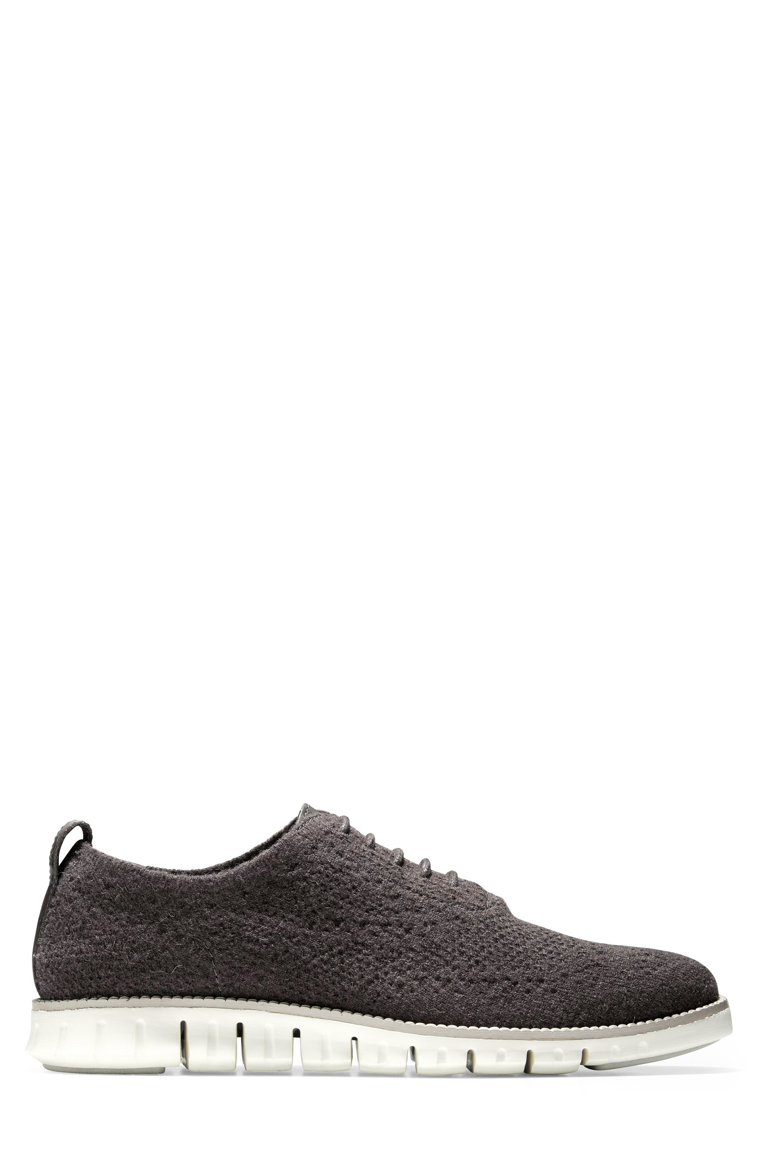 ZeroGrand Stitchlite<sup>™</sup> Water Resistant Wool Oxford,                             Alternate thumbnail 3, color,                             DARK ROAST WOOL KNIT/ IVORY