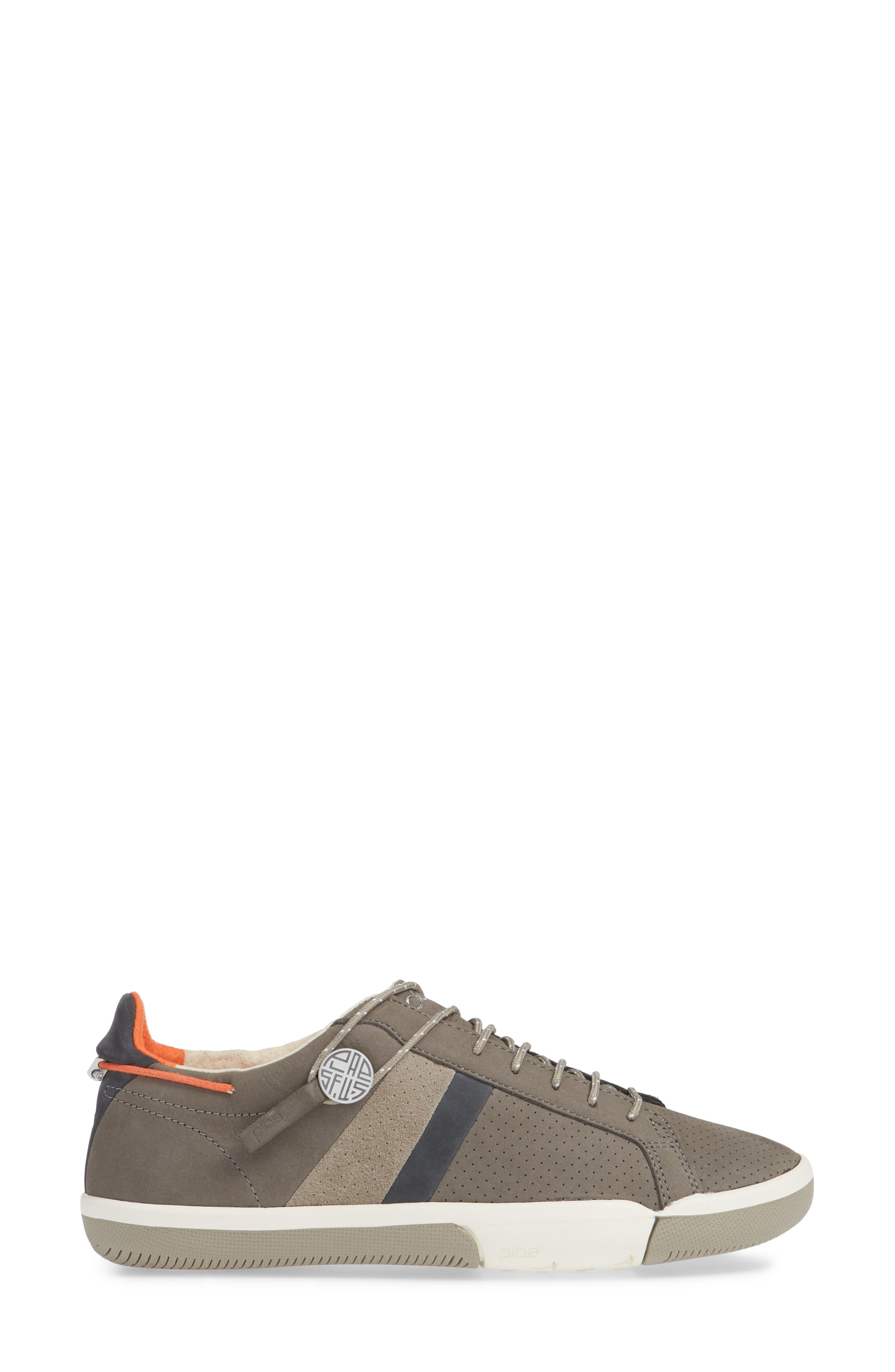 Mulberry Sneaker,                             Alternate thumbnail 3, color,                             GREY NUBUCK LEATHER