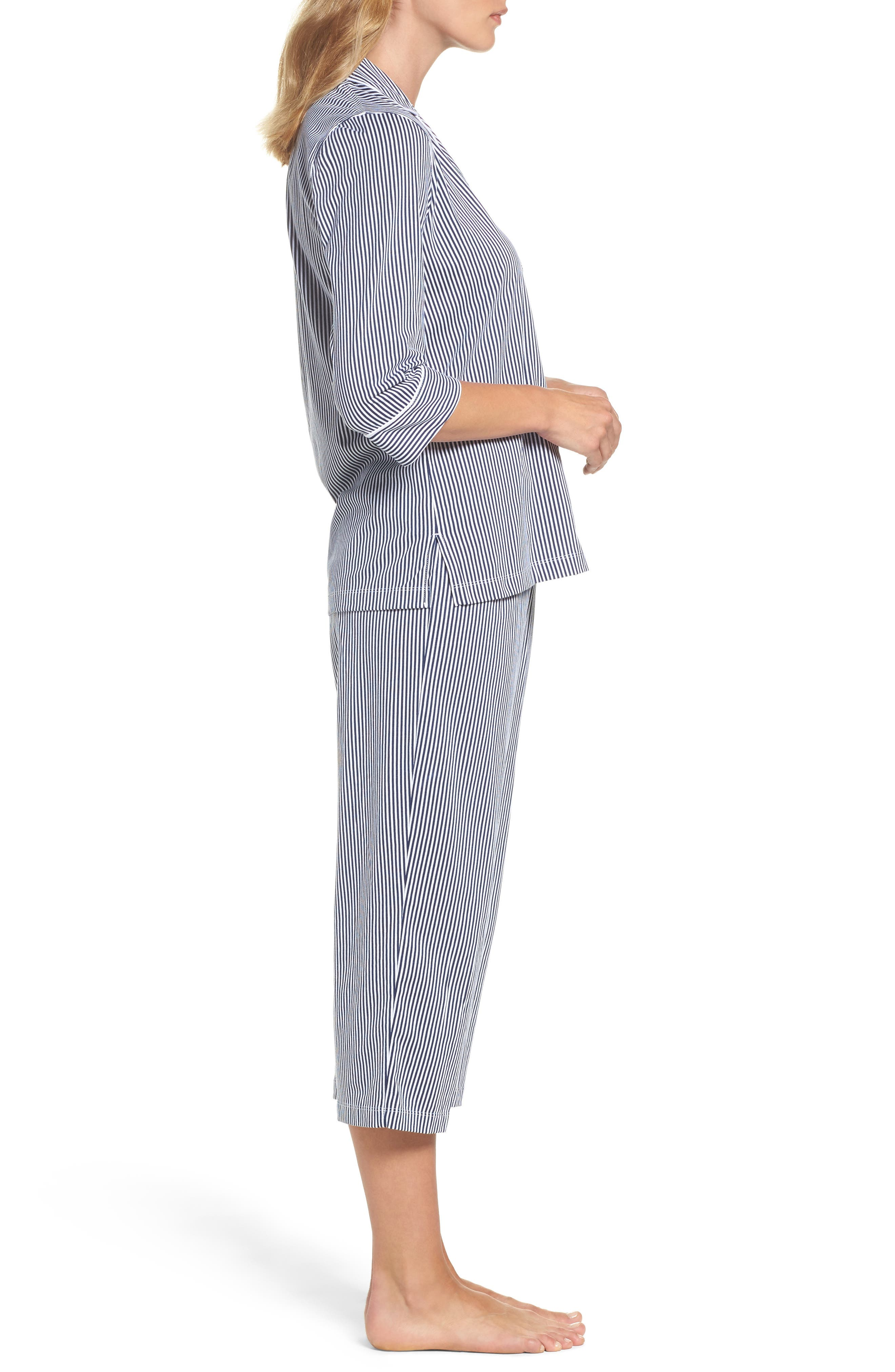 Knit Crop Pajamas,                             Alternate thumbnail 20, color,
