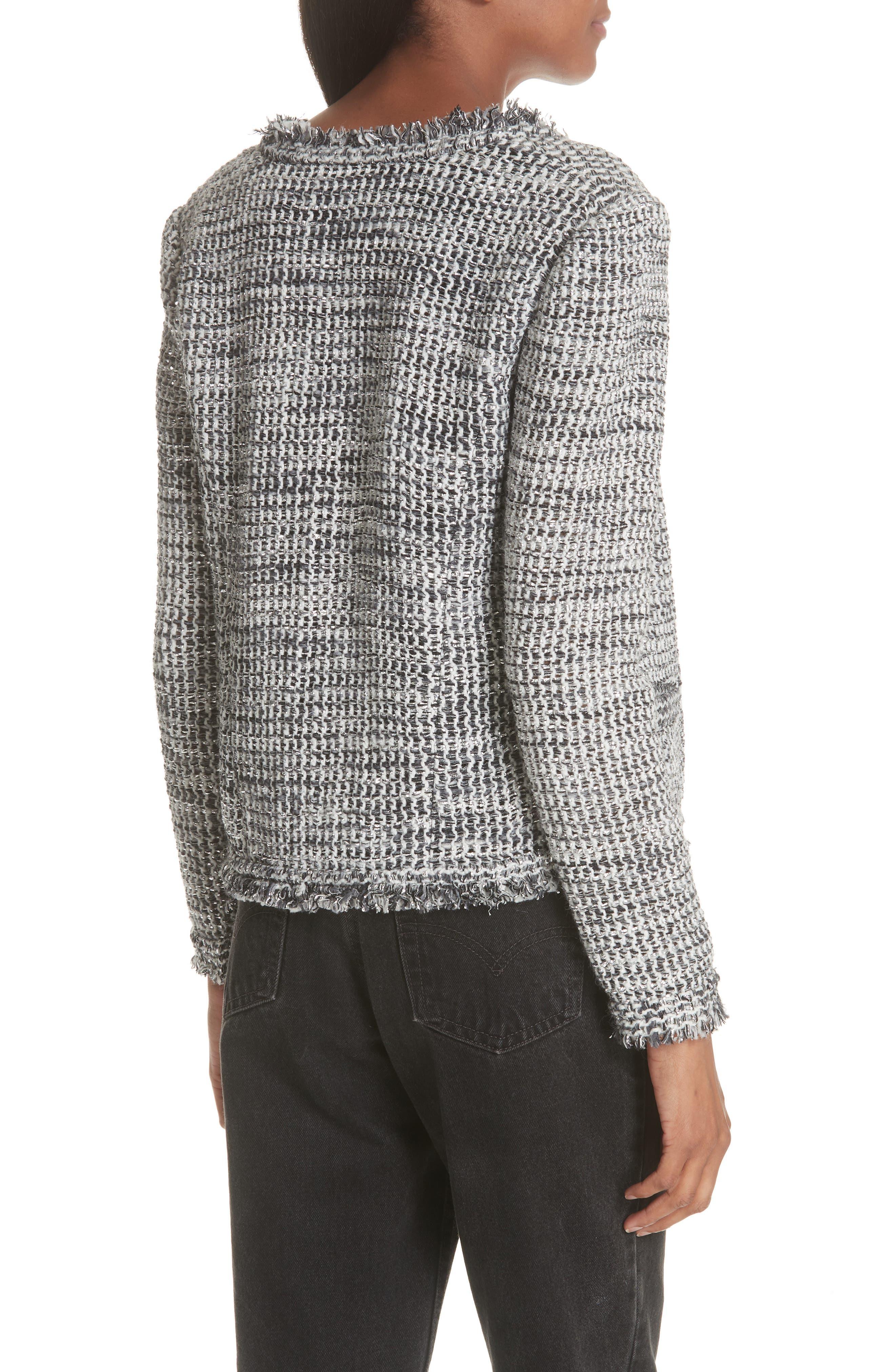 Unplug Metallic Tweed Jacket,                             Alternate thumbnail 2, color,                             GREY