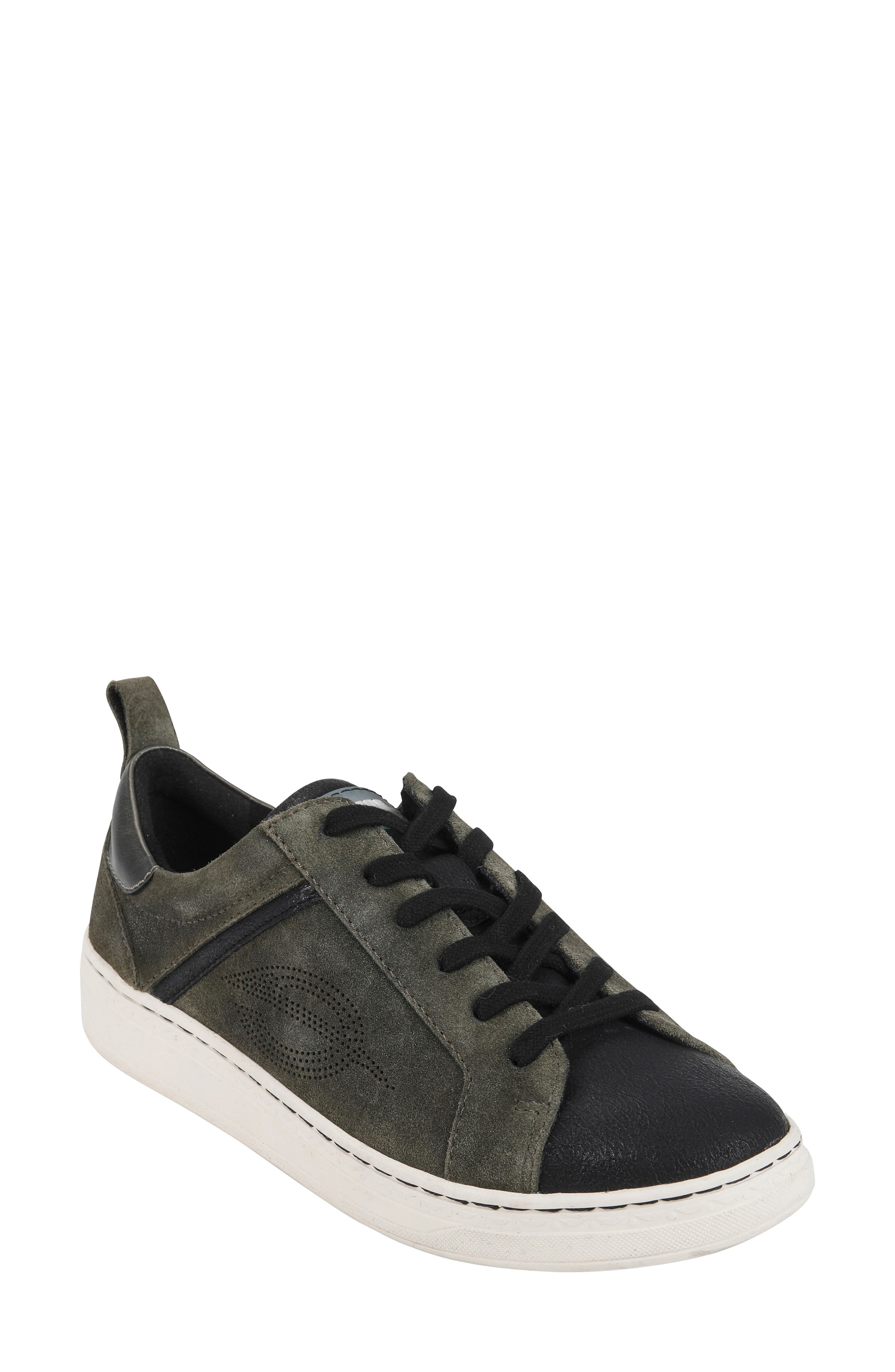 Zinnia Low Top Sneaker,                         Main,                         color, BLACK METALLIC FAUX LEATHER