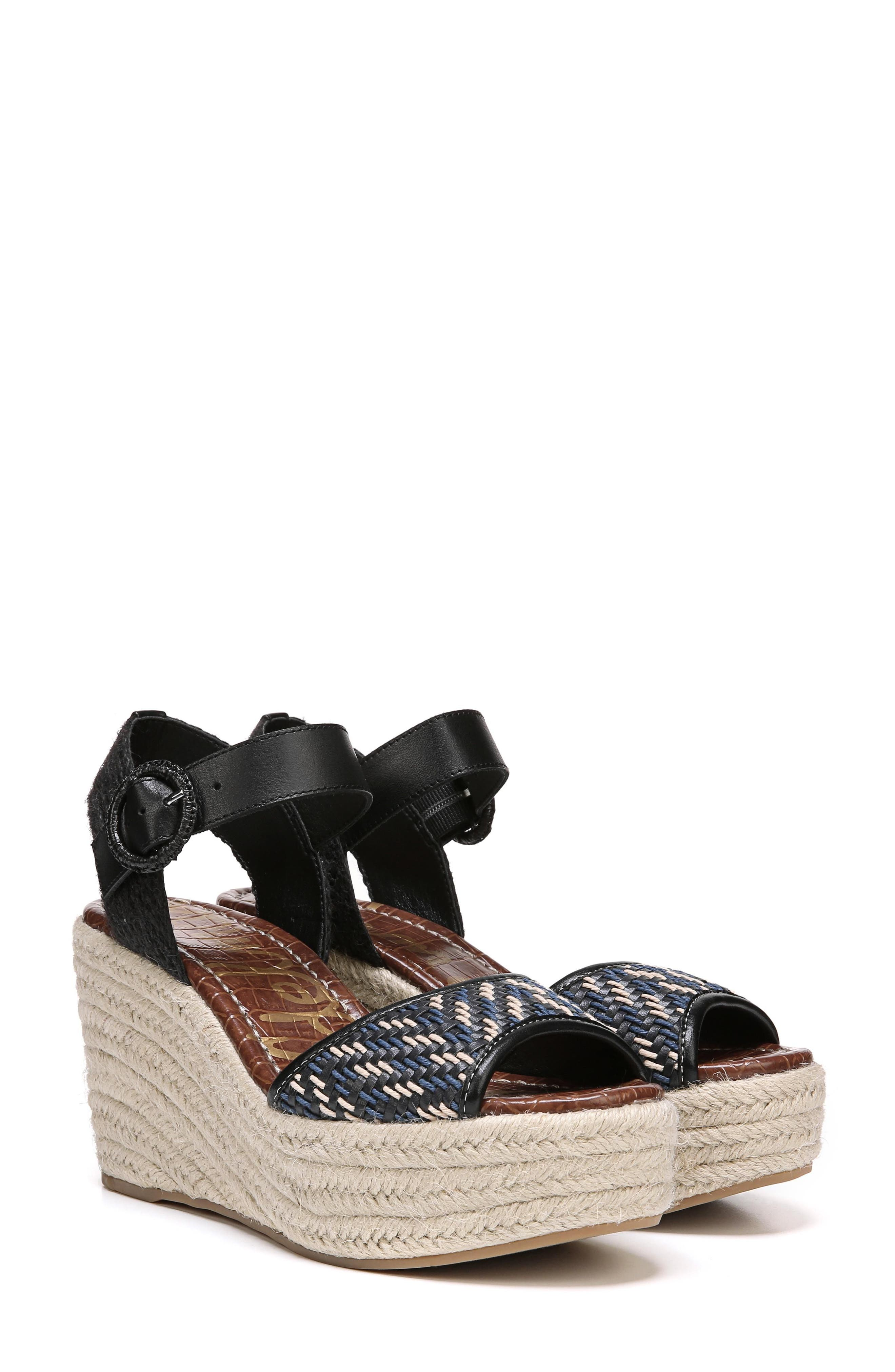 Dimitree Wedge,                         Main,                         color, NAVY/ BLACK