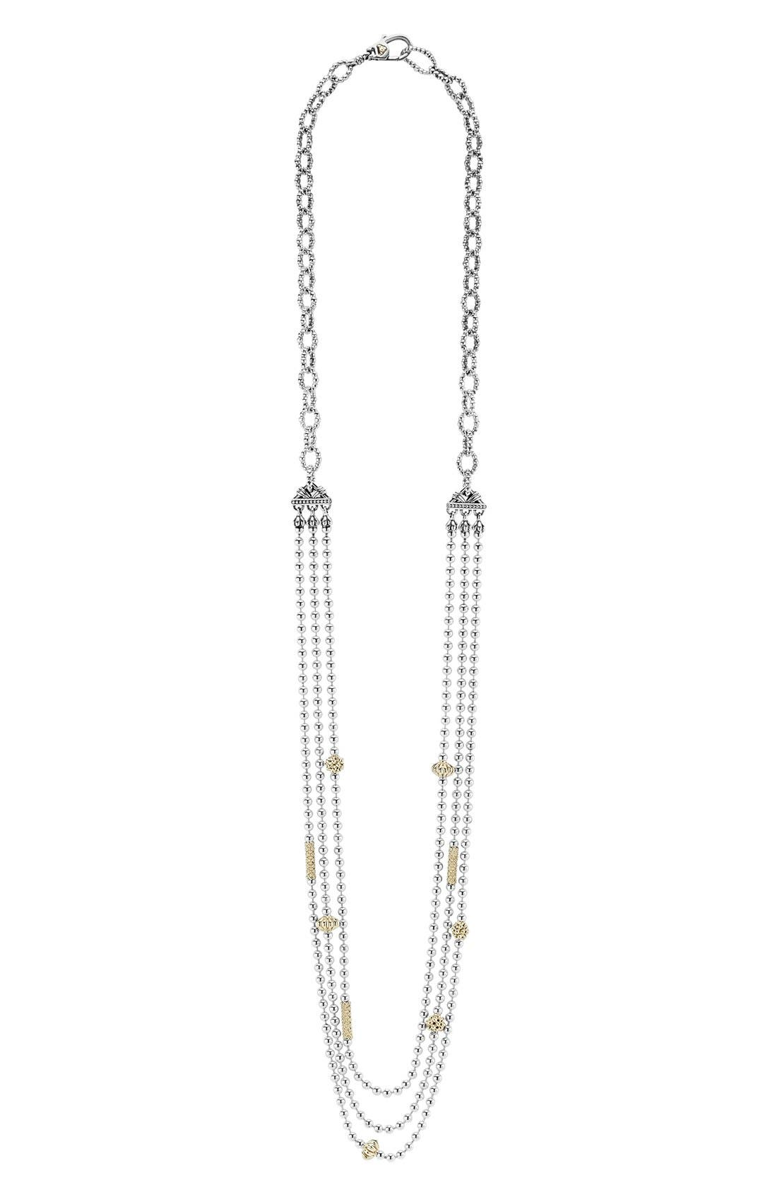 'Caviar Icon' Multistrand Necklace,                             Main thumbnail 1, color,                             SILVER/ GOLD