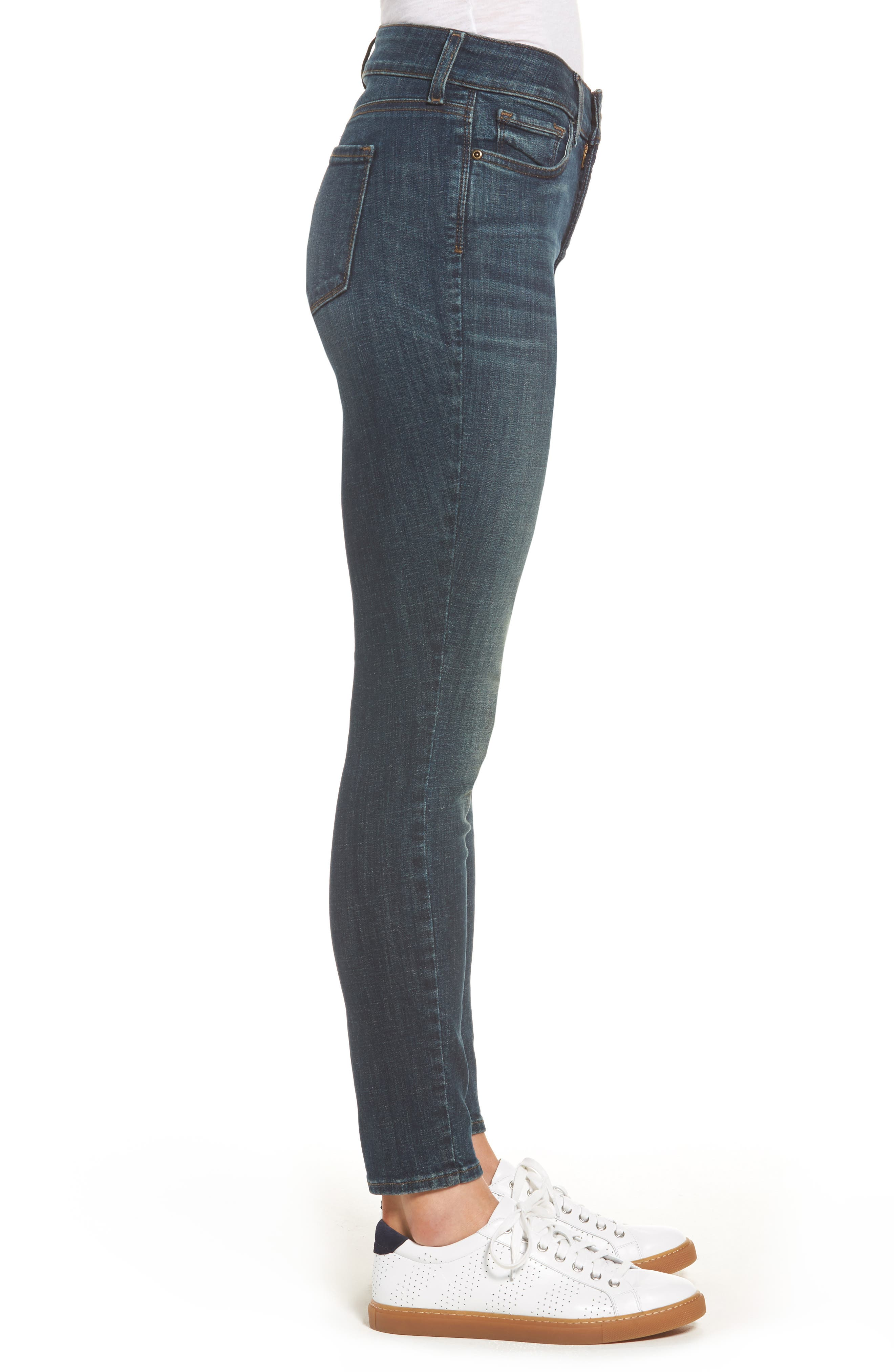 Ami Stretch Skinny Jeans,                             Alternate thumbnail 3, color,                             420