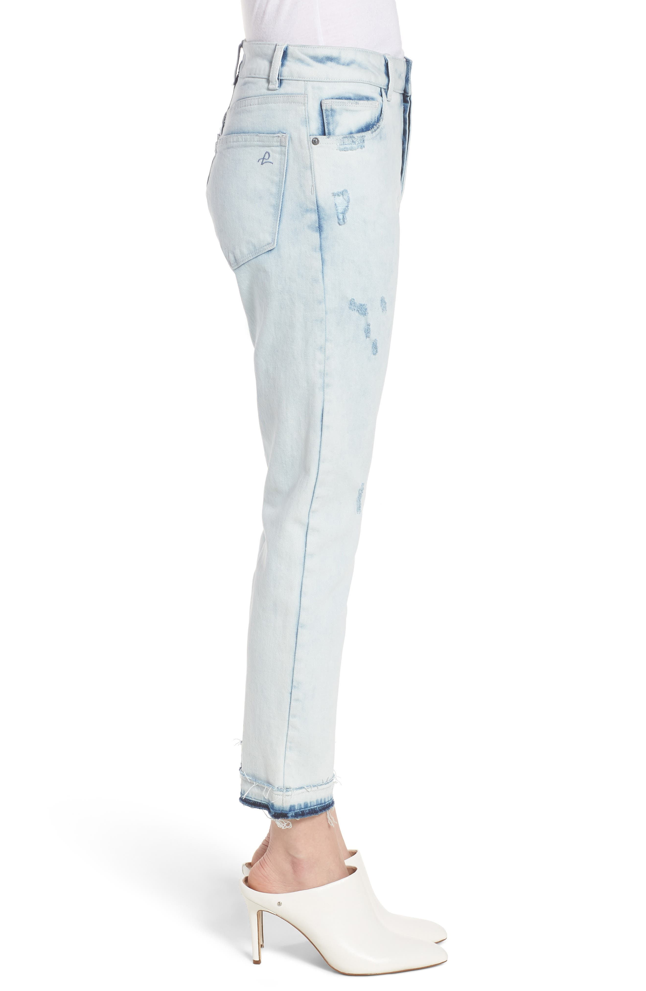 Bella Vintage Crop Slim Jeans,                             Alternate thumbnail 3, color,