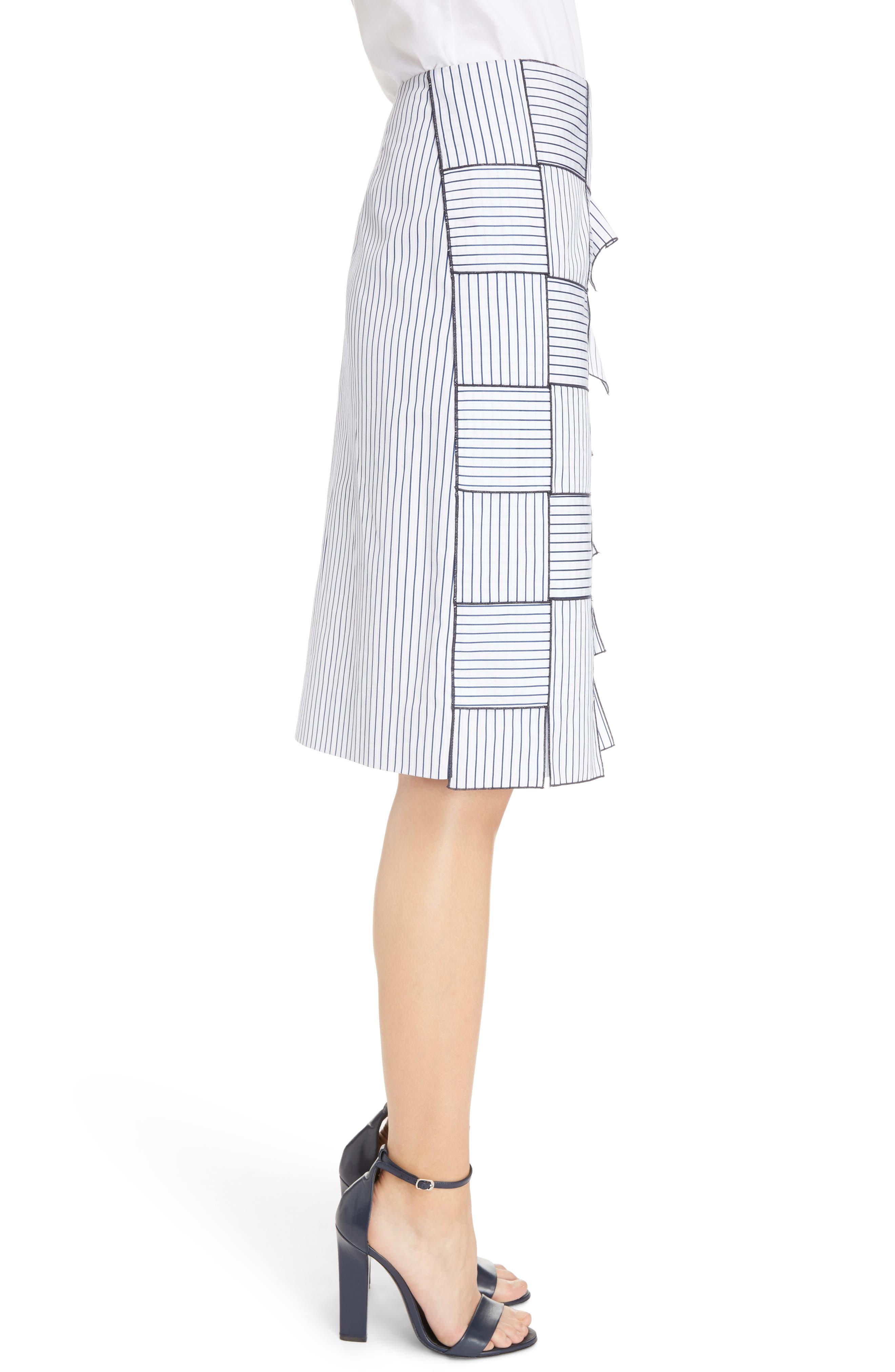 Basket-Weave Pencil Skirt,                             Alternate thumbnail 3, color,                             404