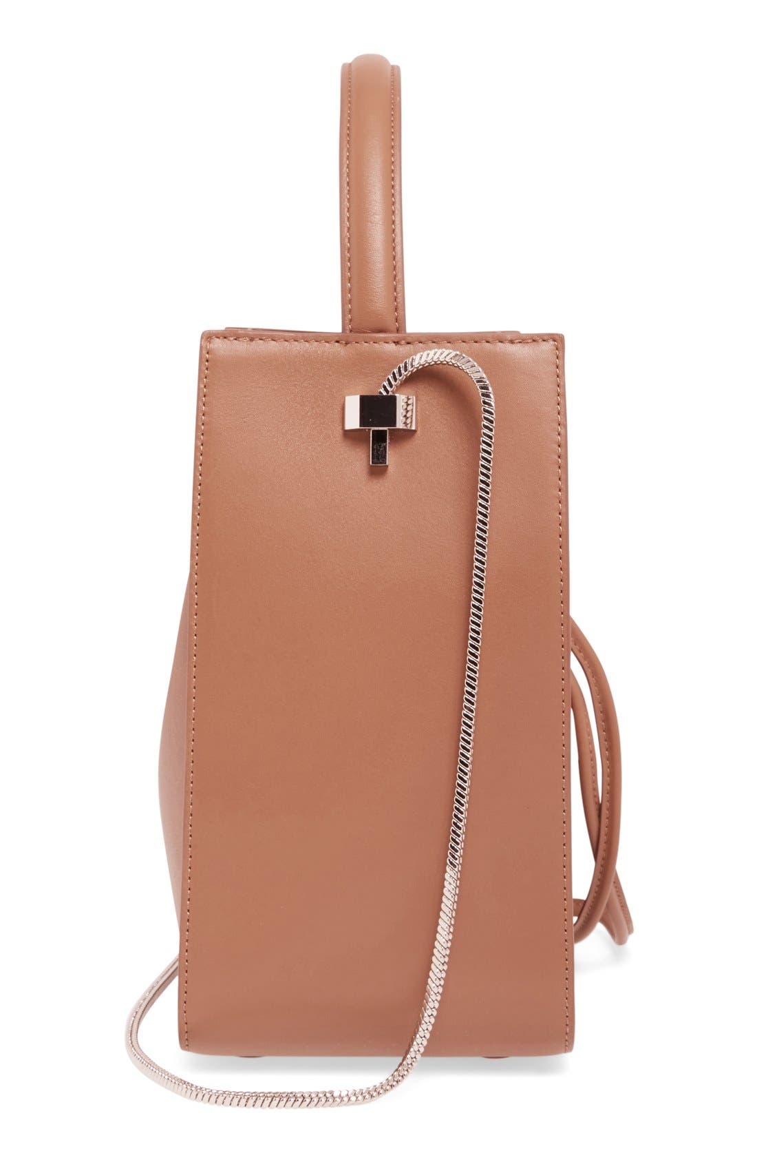Small Soleil Leather Bucket Bag,                             Alternate thumbnail 15, color,