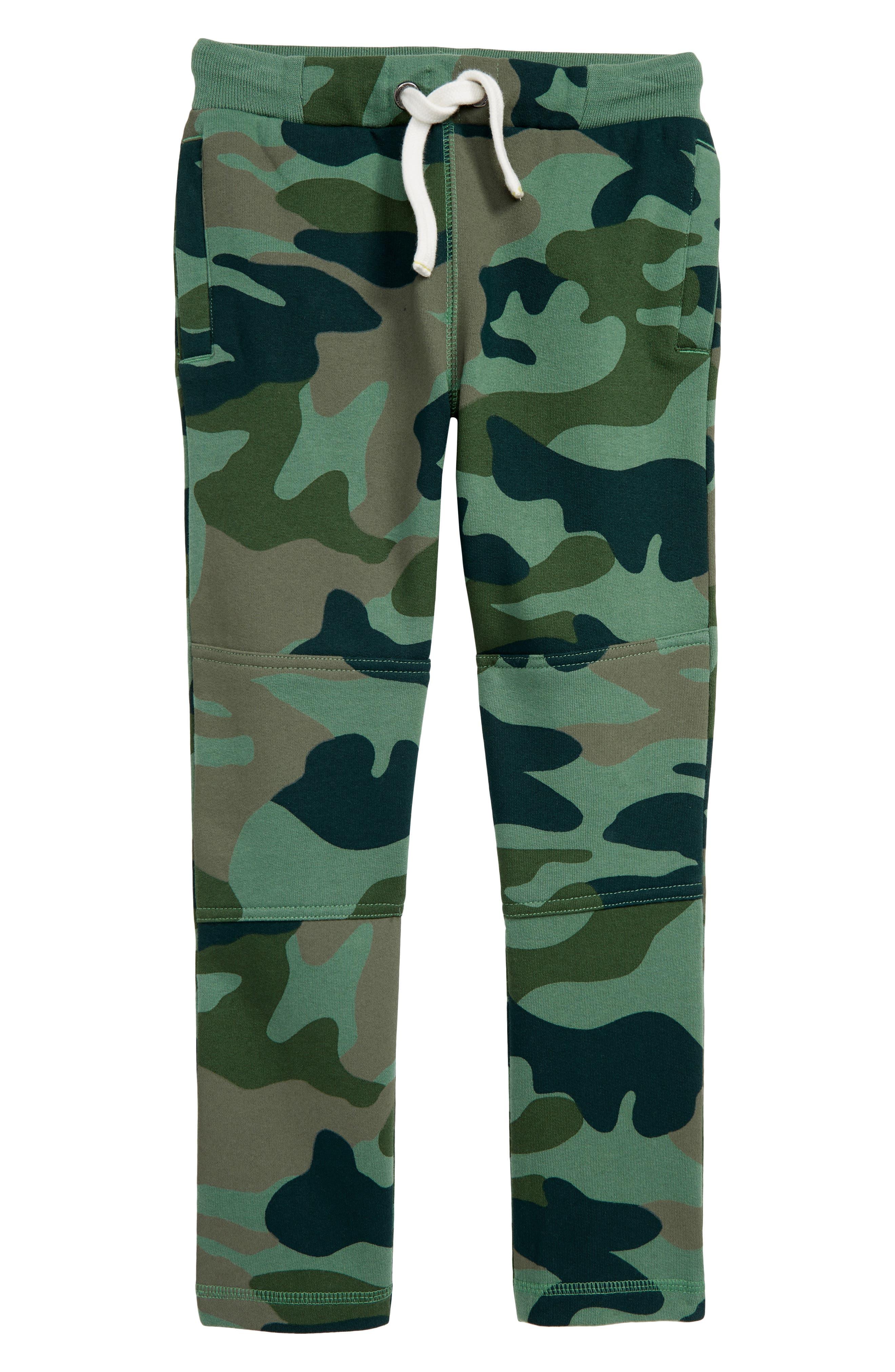 Toddler Boys Mini Boden Warrior Knee Camo Sweatpants Size 3Y  Green