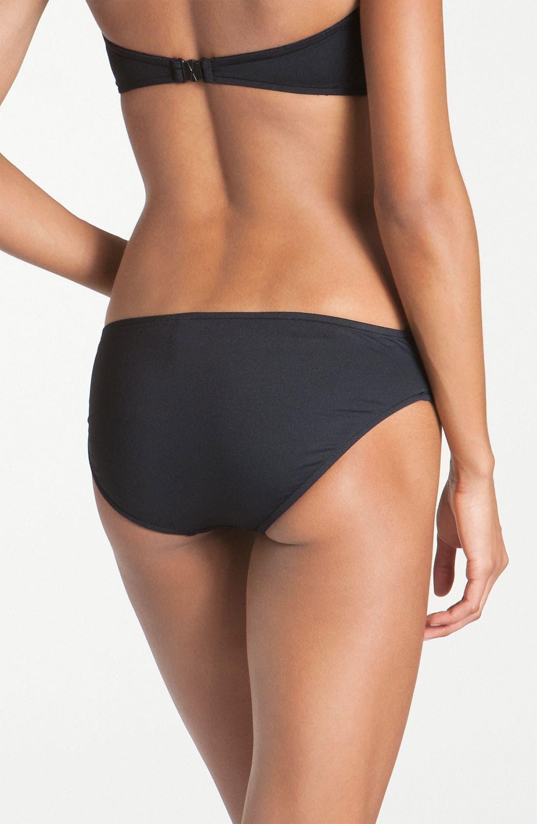 Hipster Bikini Bottoms,                             Alternate thumbnail 3, color,                             BLACK