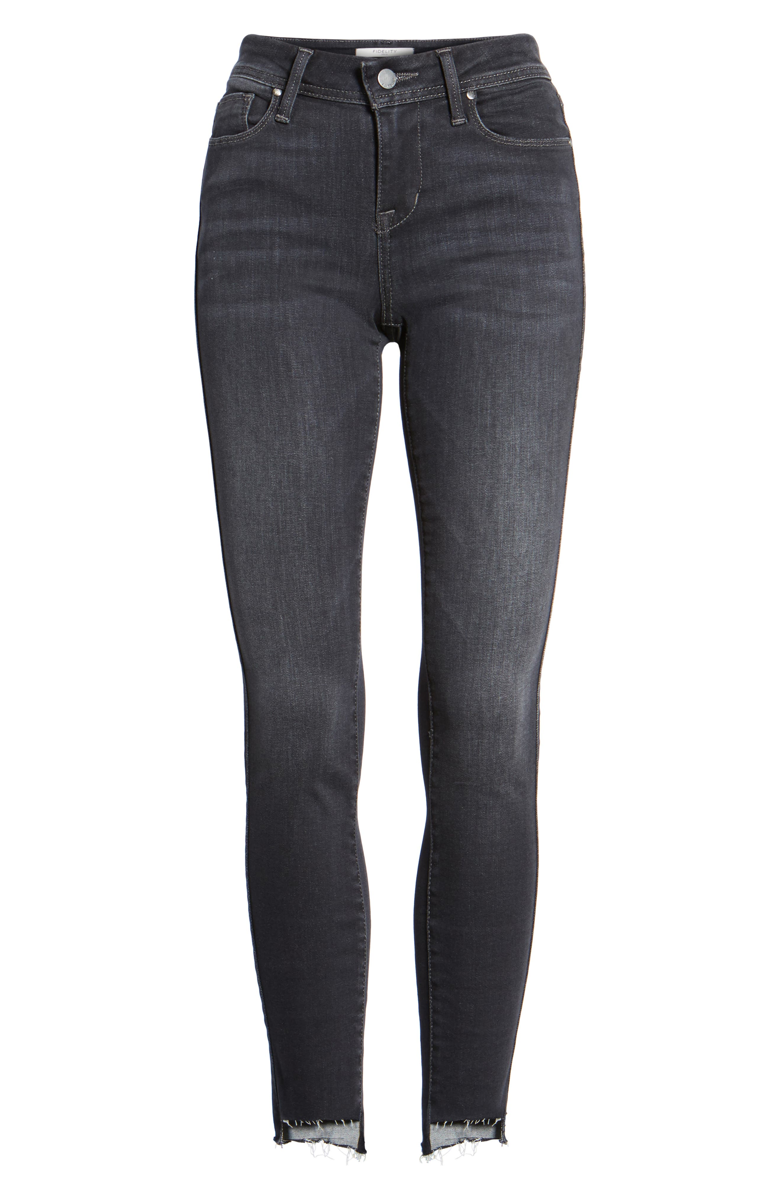 Mila Step Hem Skinny Jeans,                             Alternate thumbnail 6, color,                             AFTER MIDNIGHT