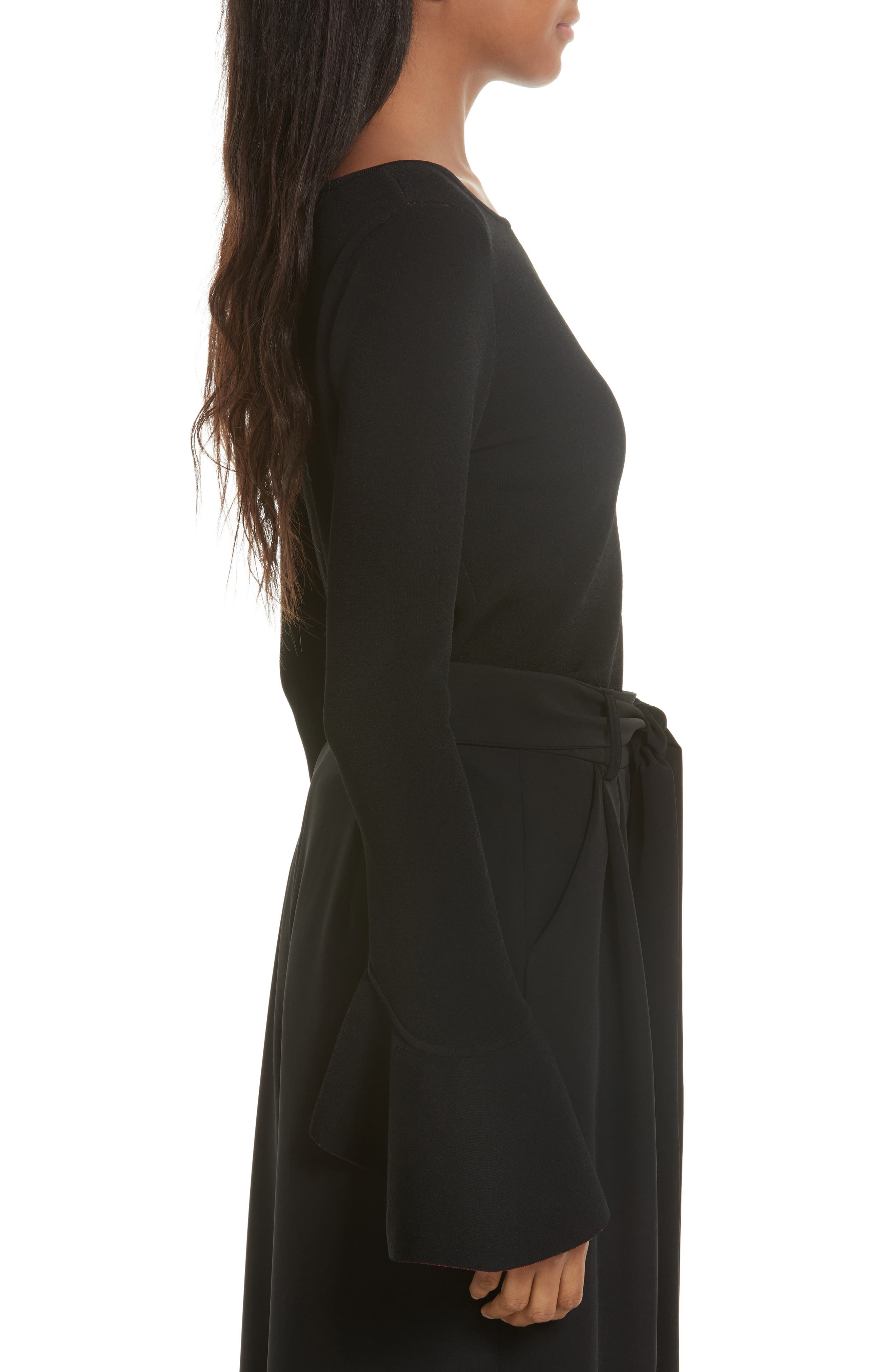 Contrast Lined Bell Sleeve Top,                             Alternate thumbnail 3, color,