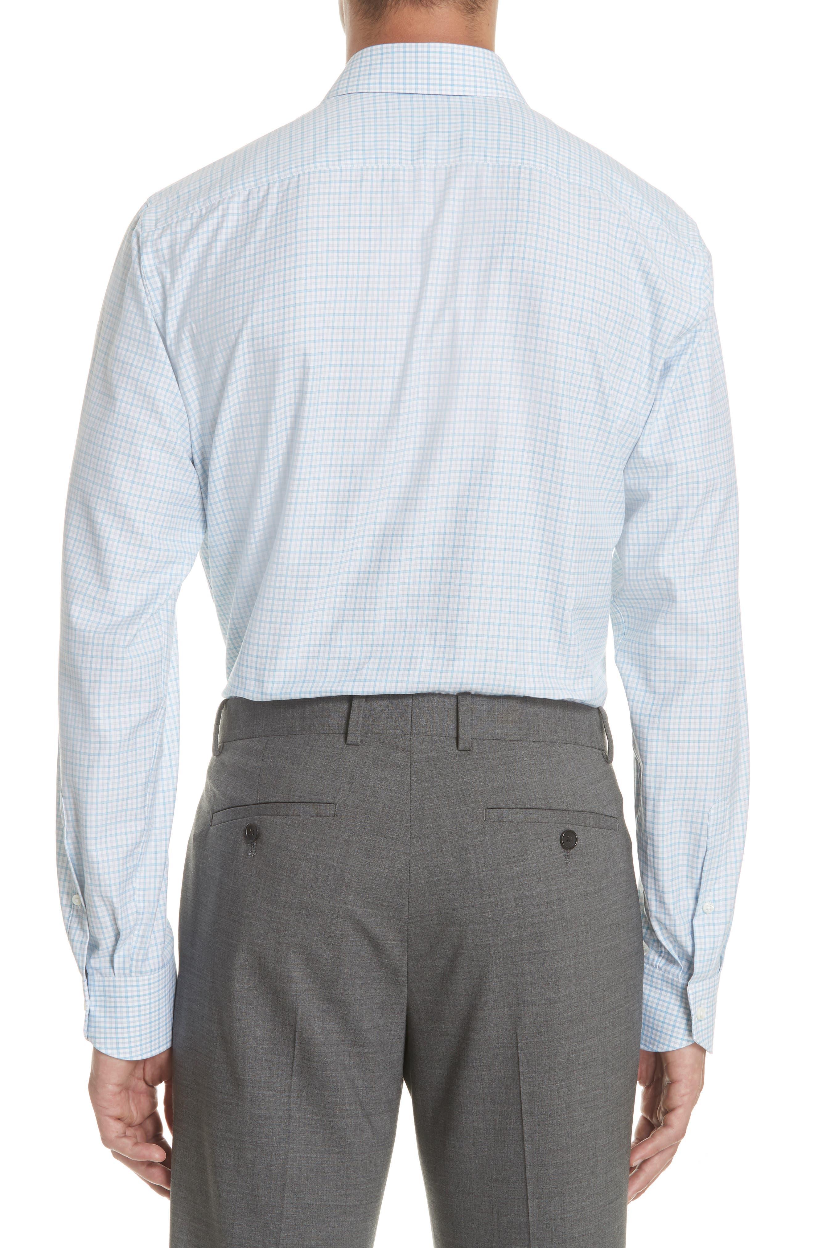 Regular Fit Check Dress Shirt,                             Alternate thumbnail 3, color,                             440
