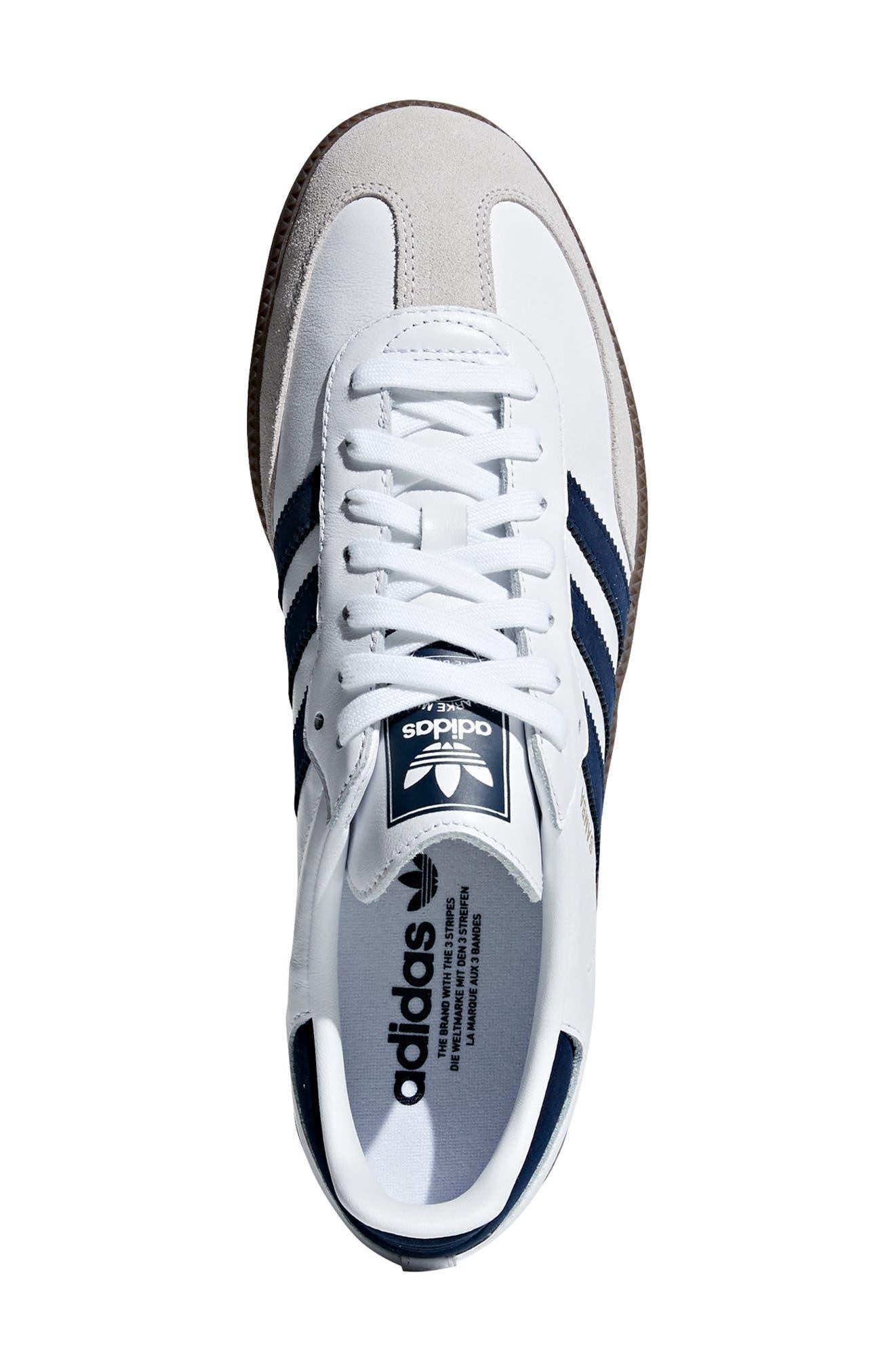 Samba OG Sneaker,                             Alternate thumbnail 4, color,                             WHITE/ NAVY / CRYSTAL WHITE