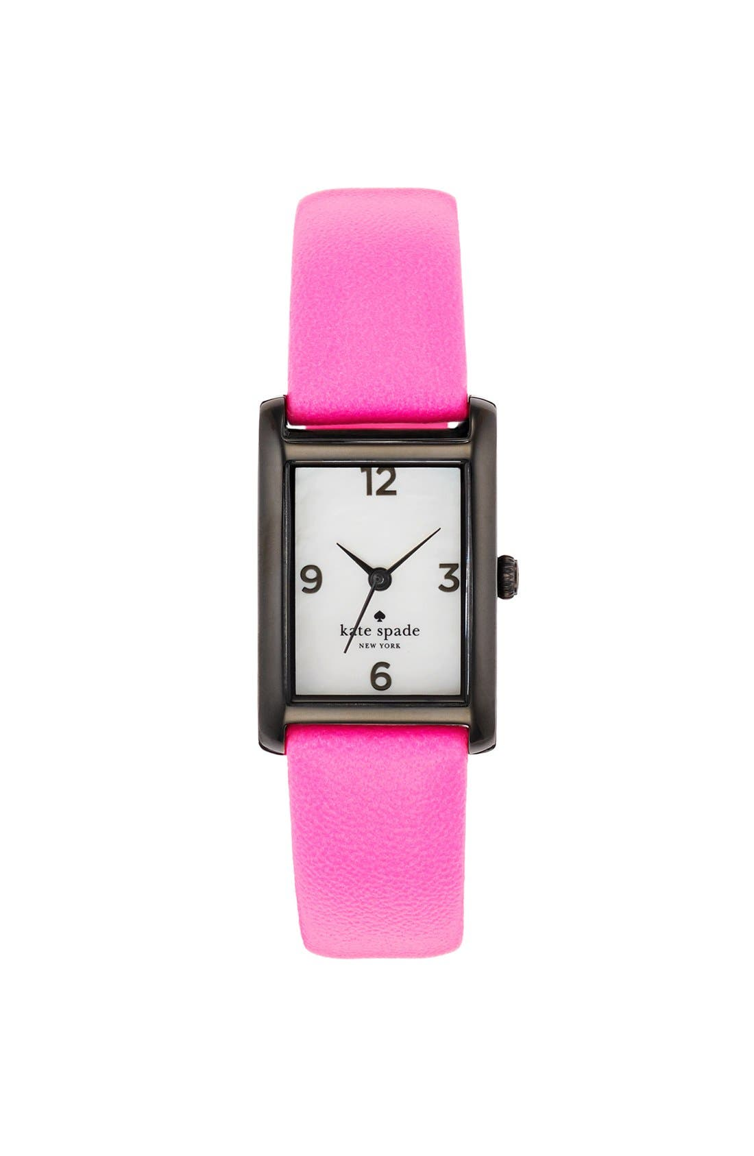 'cooper' leather strap watch, 21mm x 32mm,                             Main thumbnail 10, color,