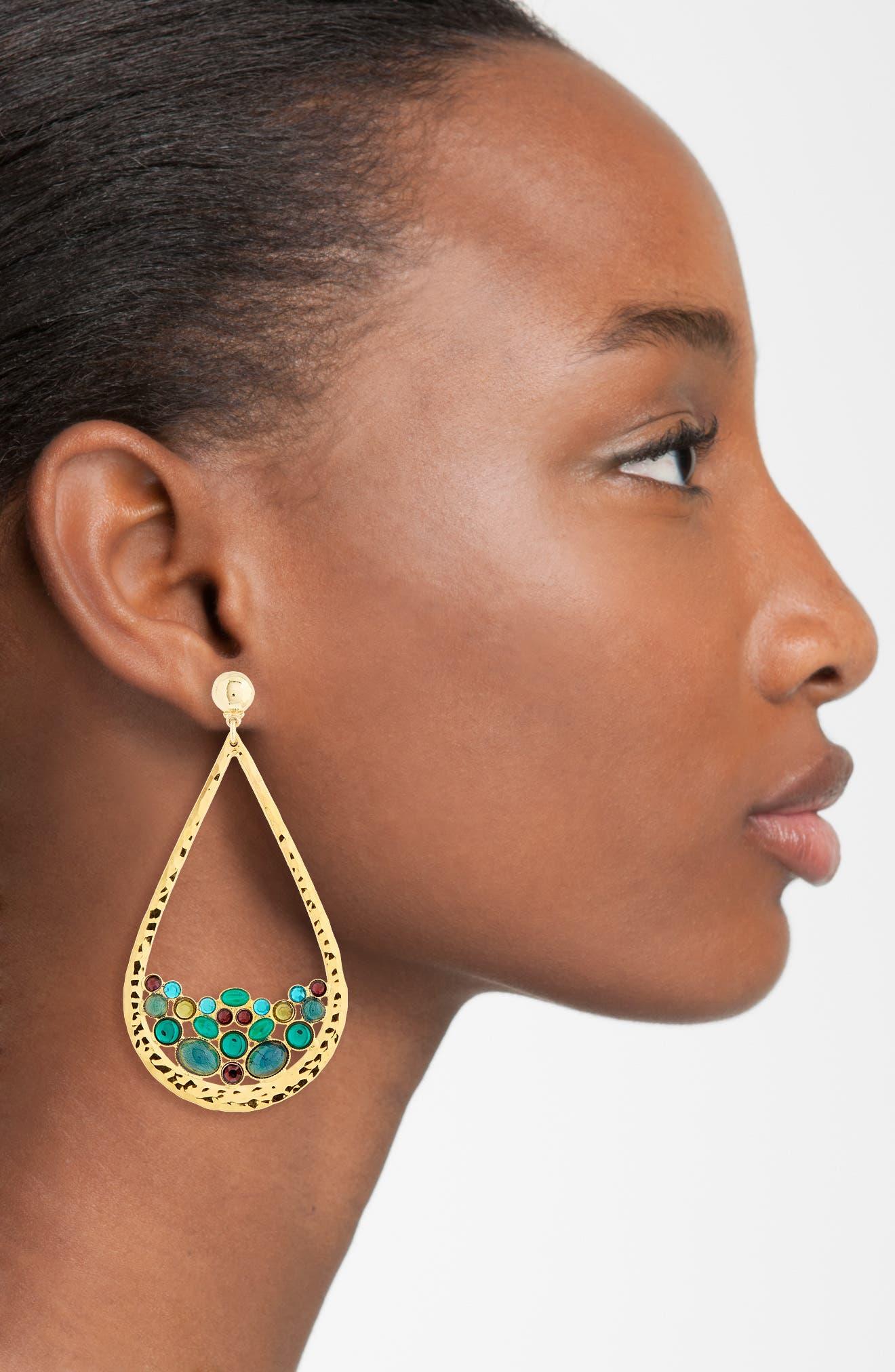 Byzance Crystal Drop Earrings,                             Alternate thumbnail 2, color,                             400