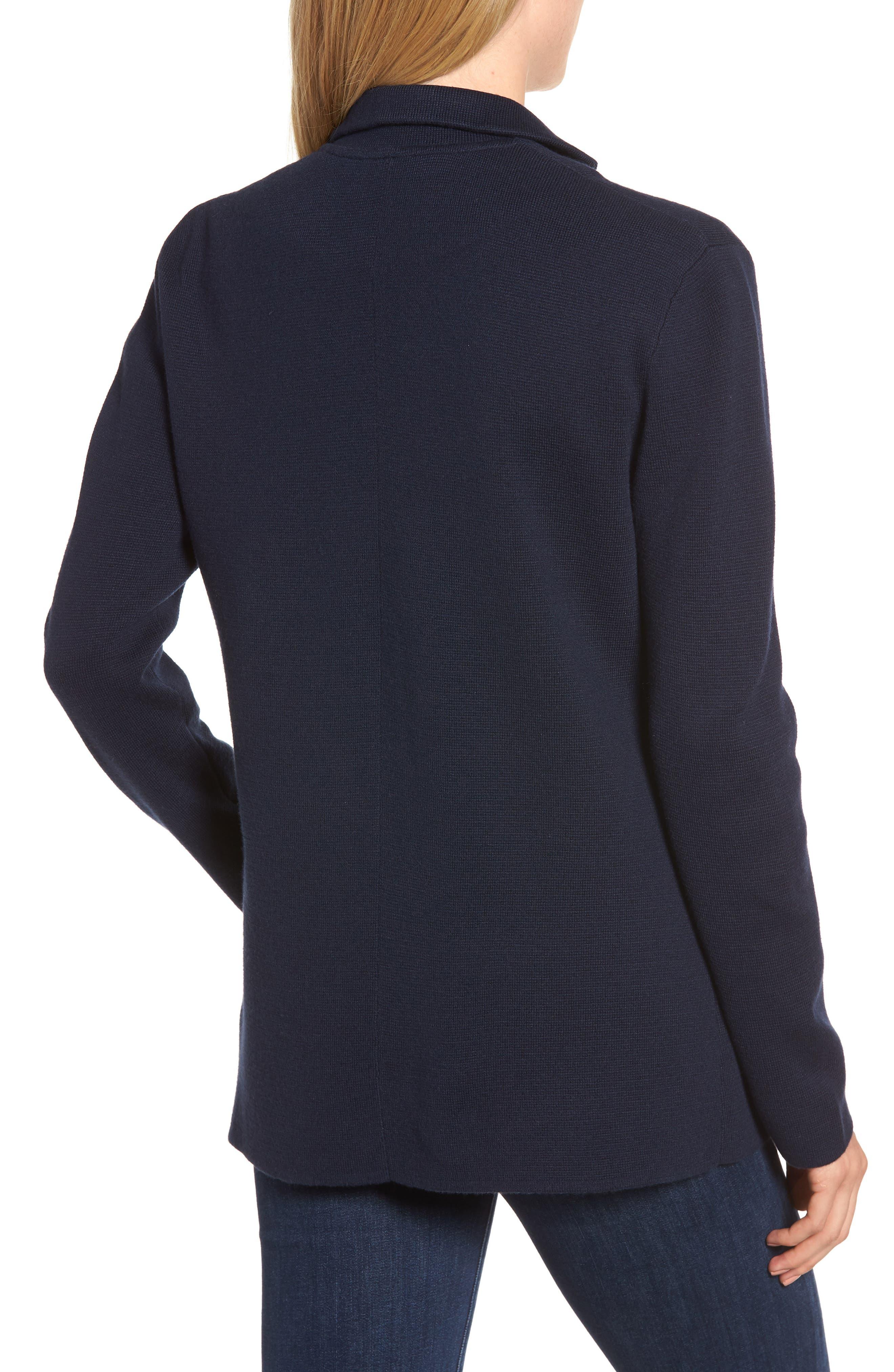 Merino Sweater Blazer,                             Alternate thumbnail 2, color,                             NAVY