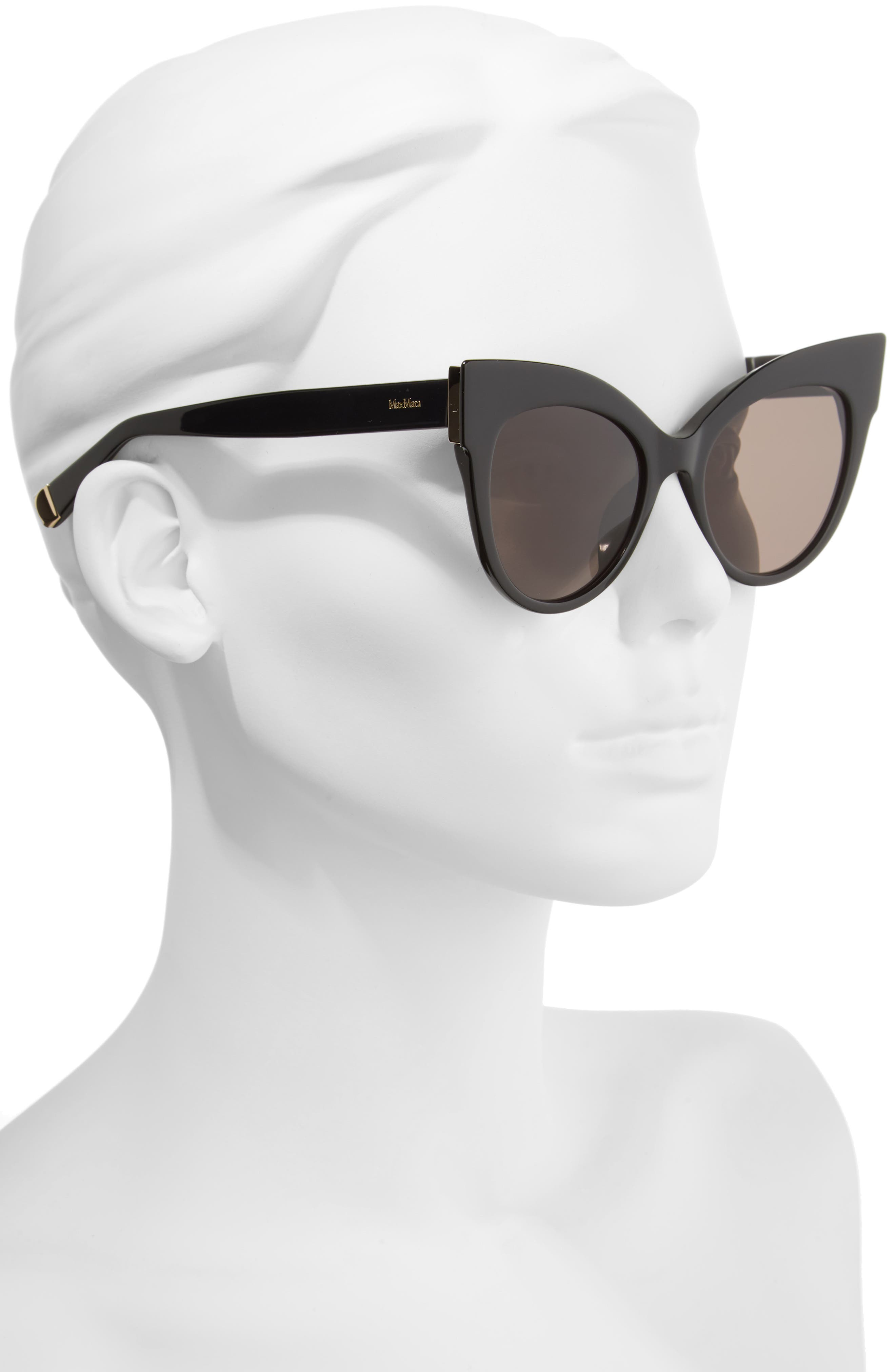 Anita 52mm Cat Eye Sunglasses,                             Alternate thumbnail 2, color,                             001