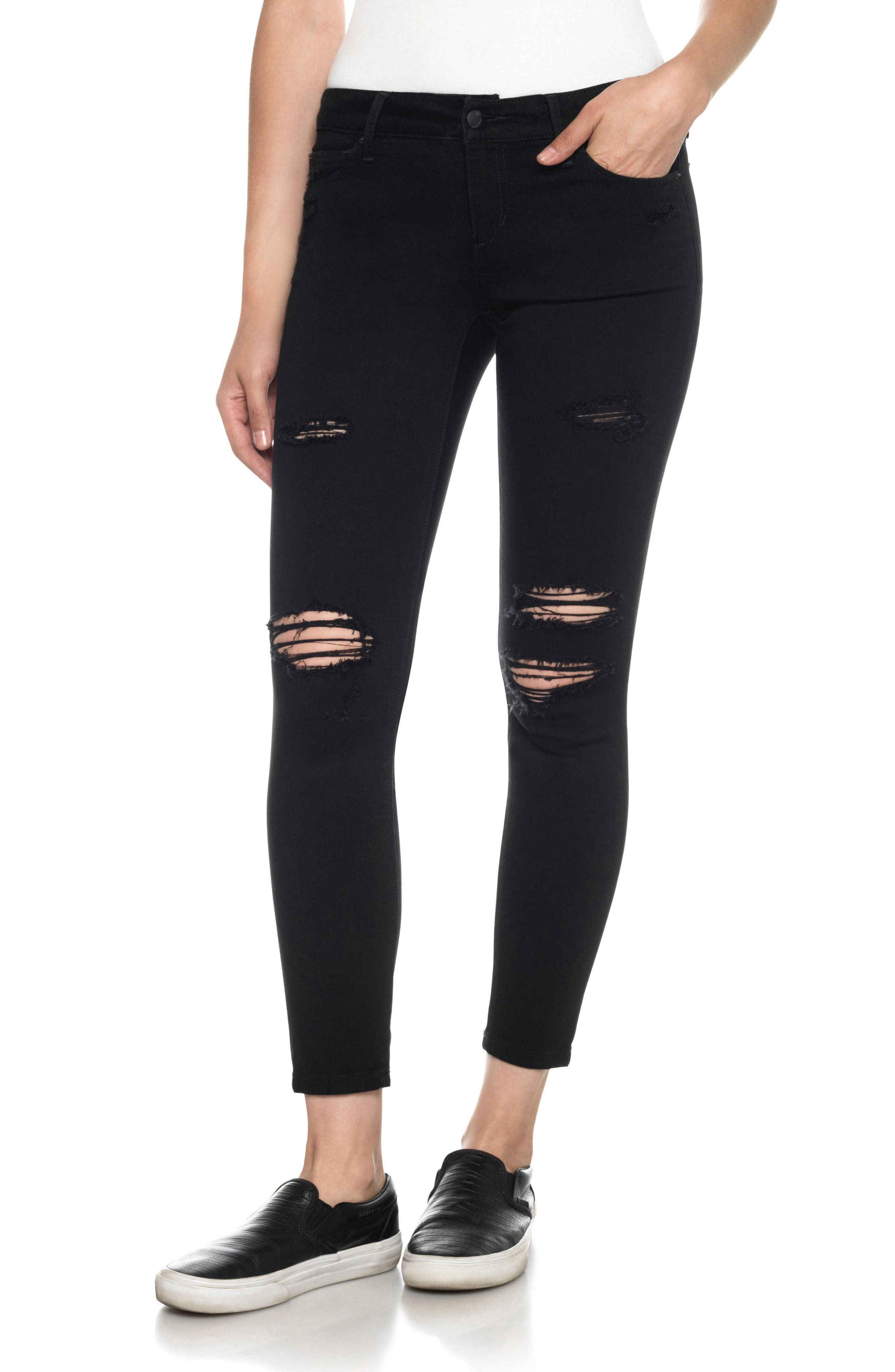Flawless - Icon Ankle Skinny Jeans,                             Main thumbnail 1, color,