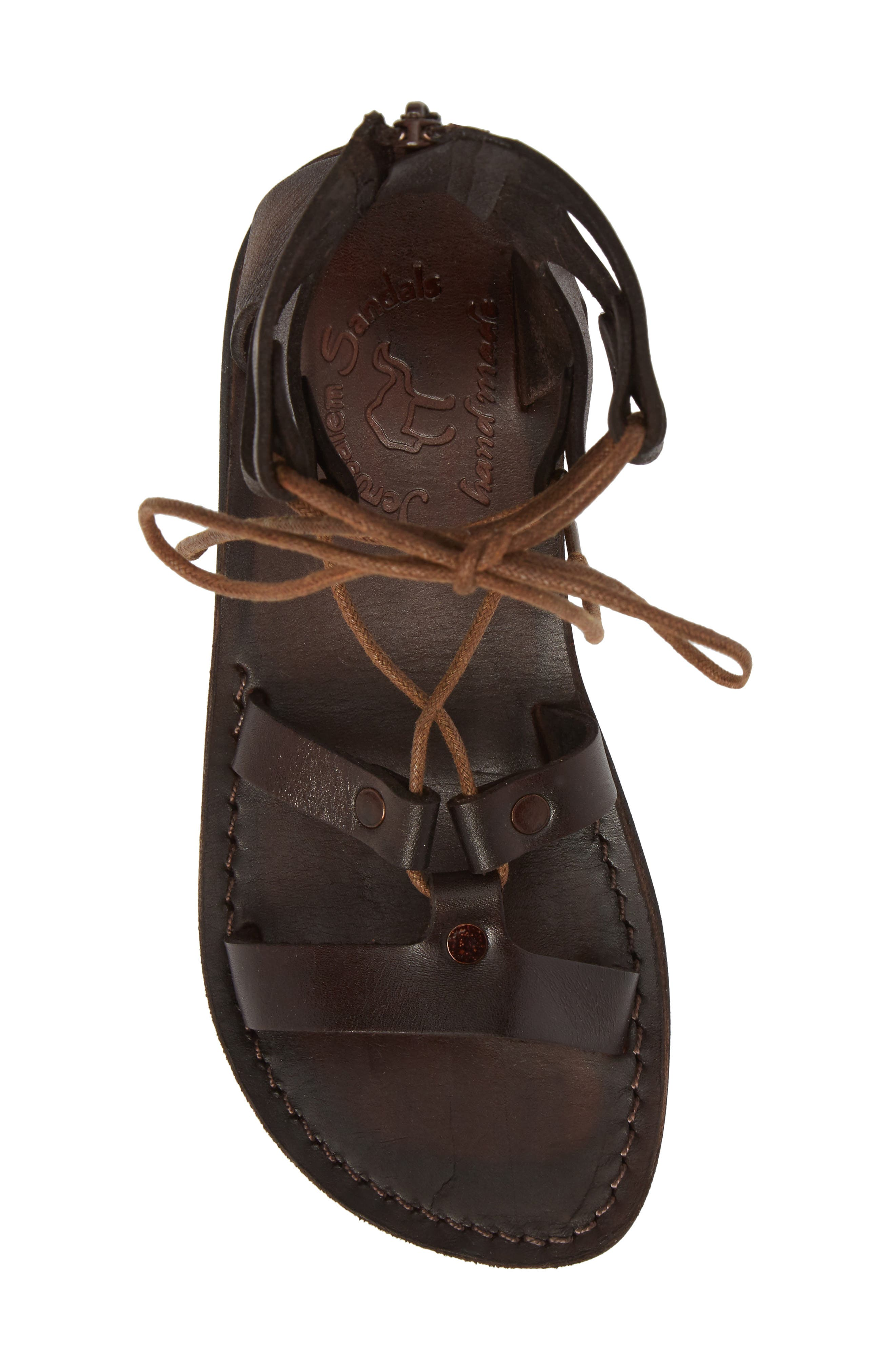 Rebecca Sandal,                             Alternate thumbnail 5, color,                             BROWN LEATHER