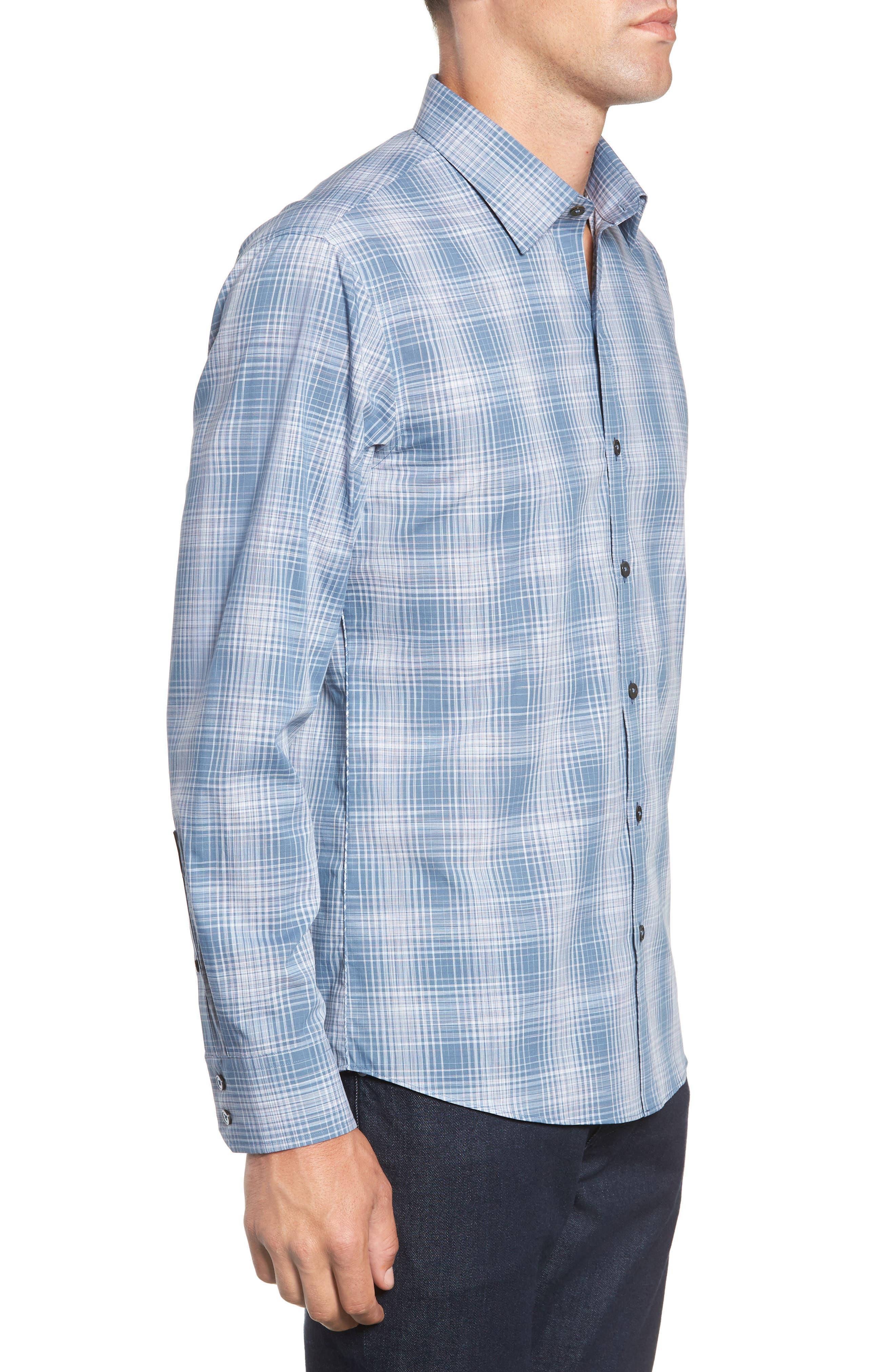 Slater Check Sport Shirt,                             Alternate thumbnail 4, color,                             PALE BLUE