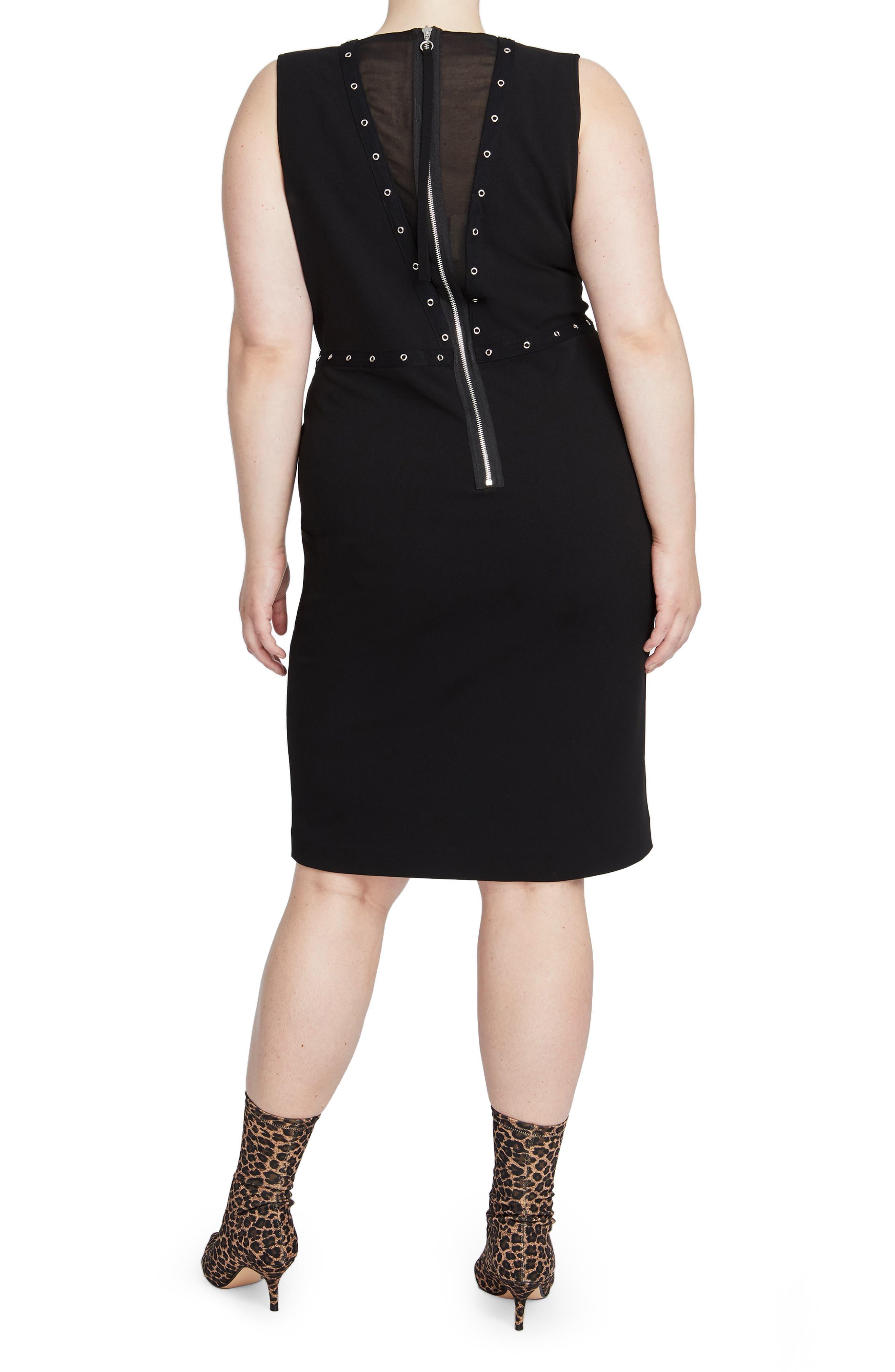 Zane Sleeveless Sheath Dress,                             Alternate thumbnail 2, color,                             BLACK