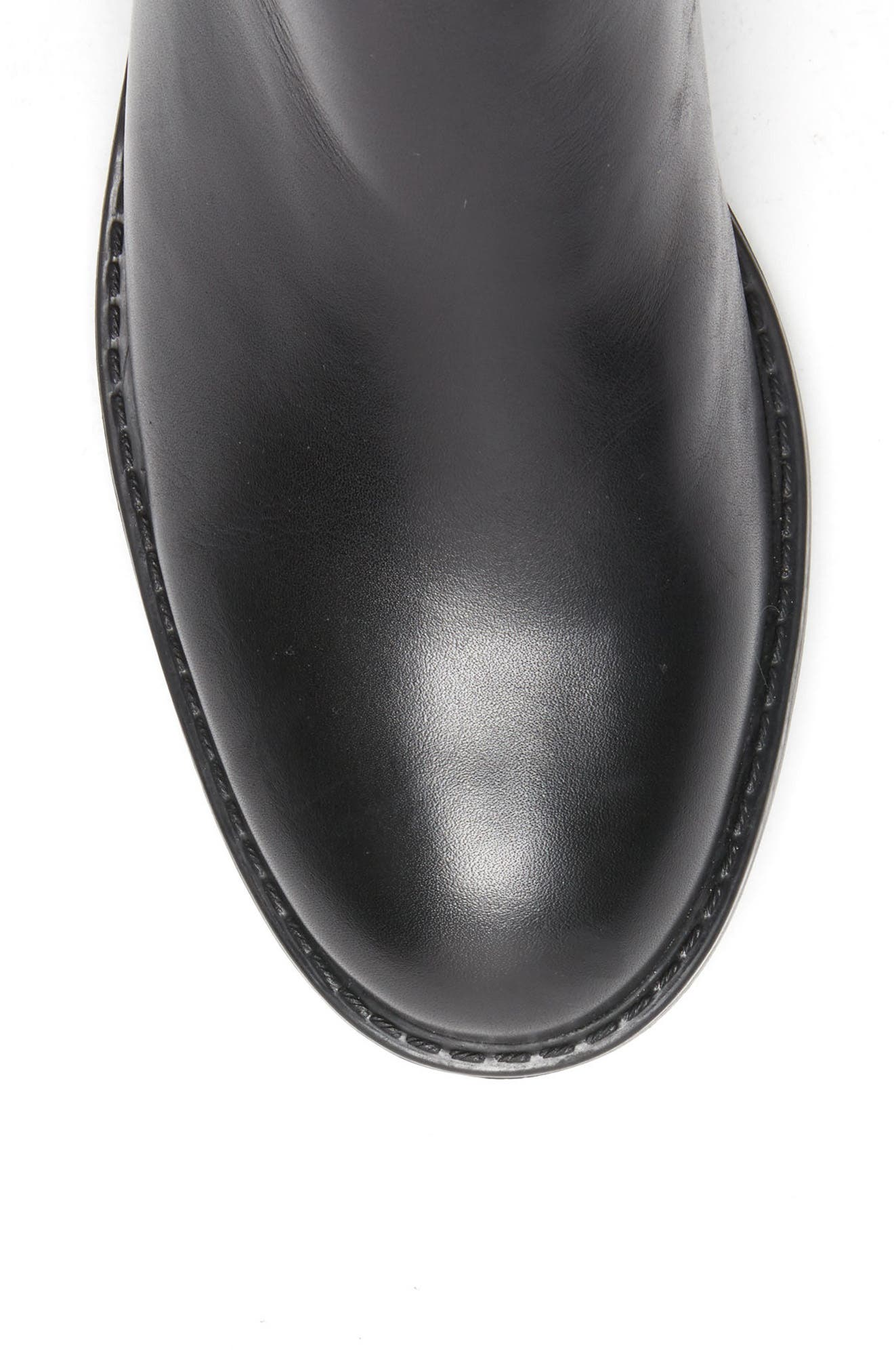 Ellie Waterproof Knee High Riding Boot,                             Alternate thumbnail 5, color,                             BLACK LEATHER