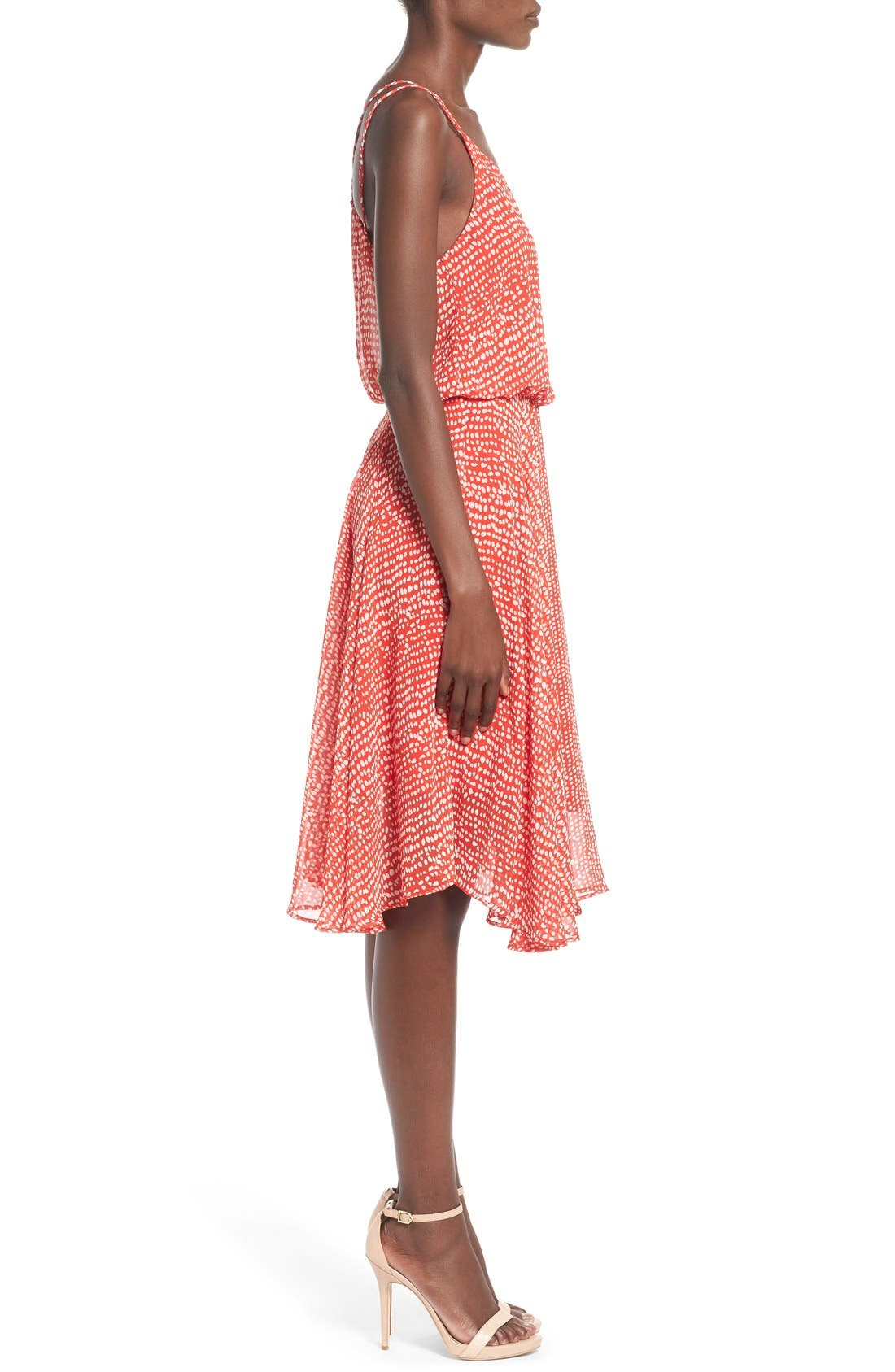 Midi Swing Dress,                             Alternate thumbnail 5, color,                             610