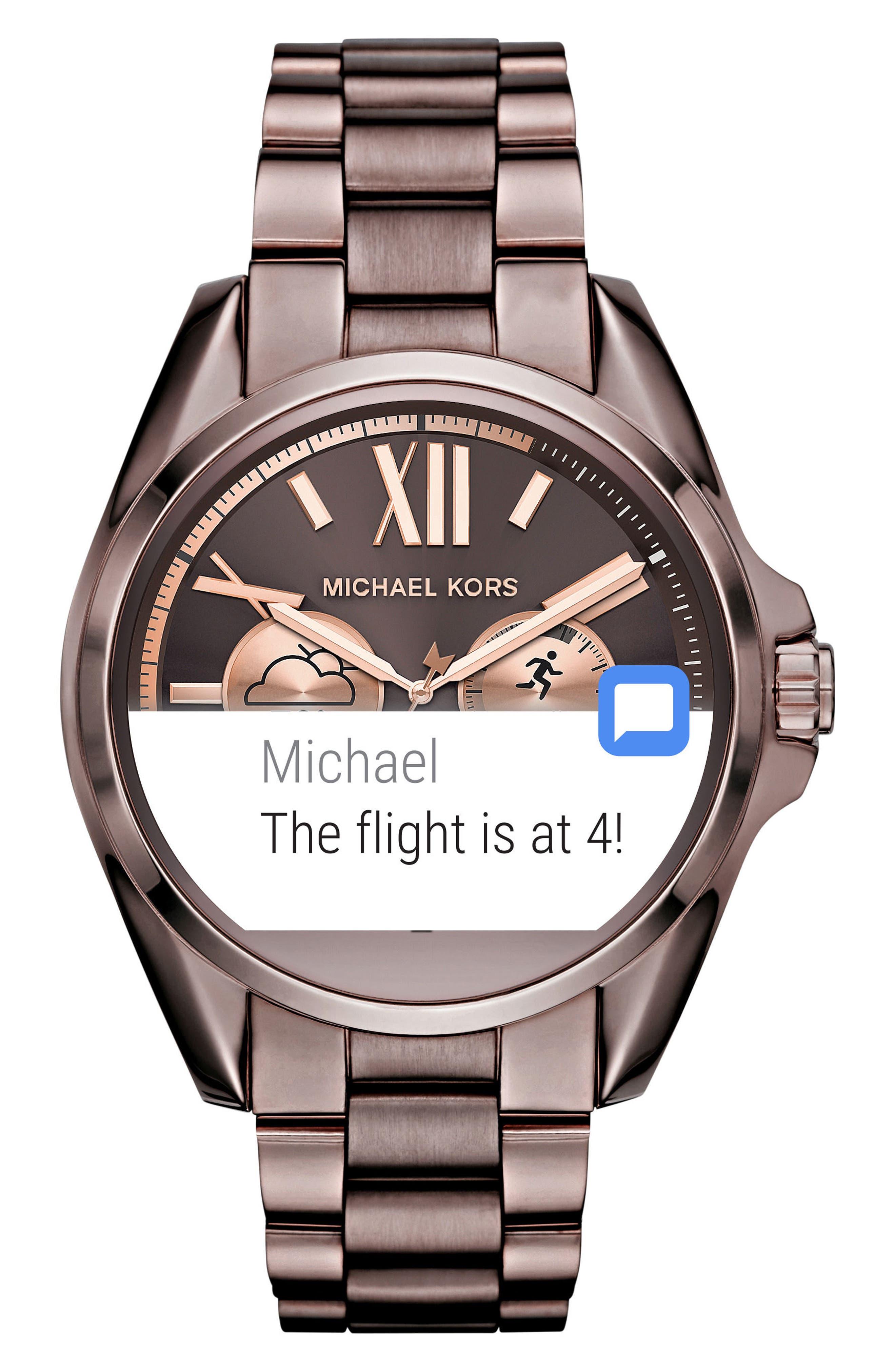 MICHAEL Michael Kors Bradshaw Access Bracelet Smart Watch, 45mm,                             Alternate thumbnail 38, color,