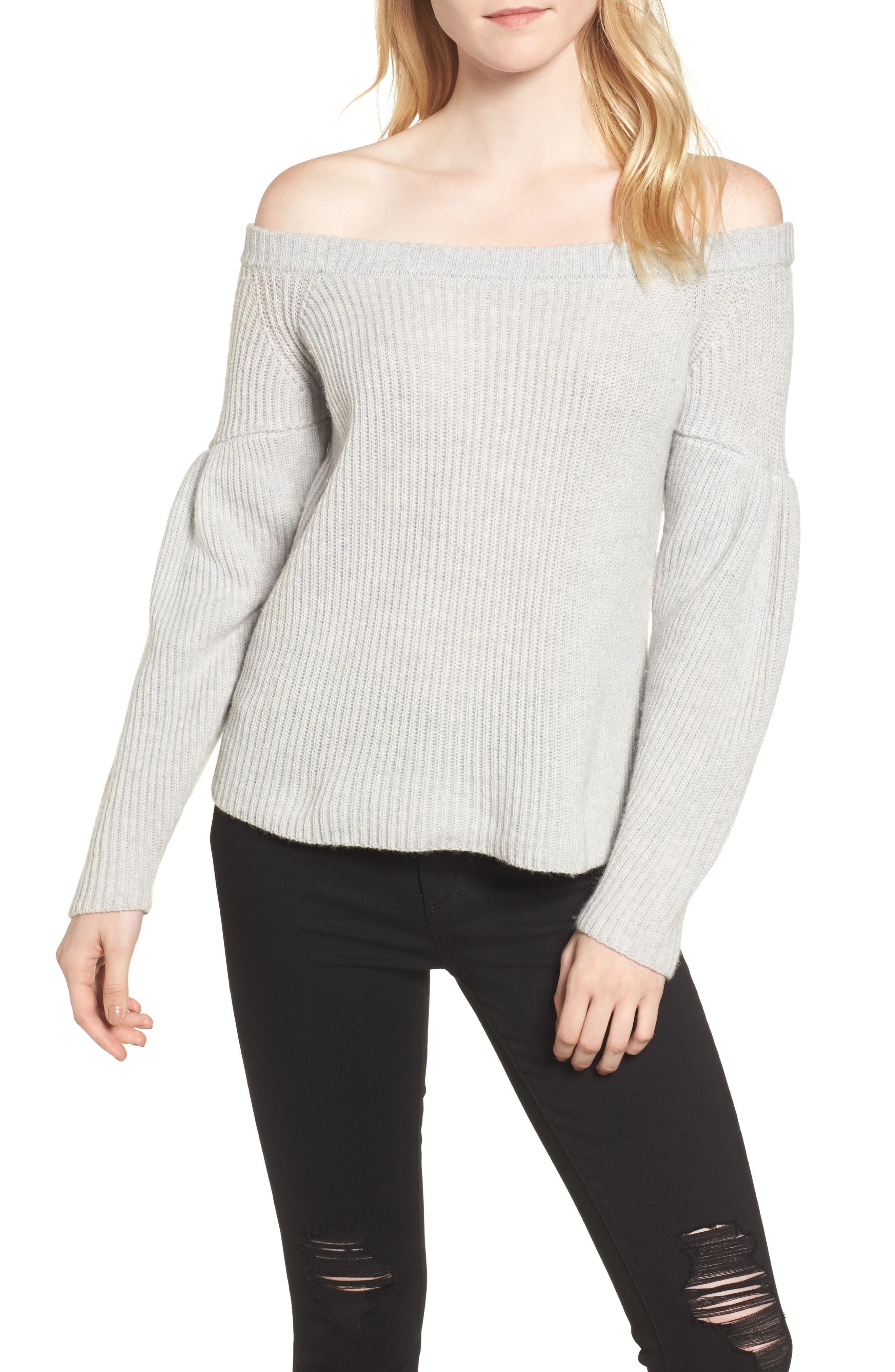 Lottie Off the Shoulder Sweater,                             Main thumbnail 1, color,
