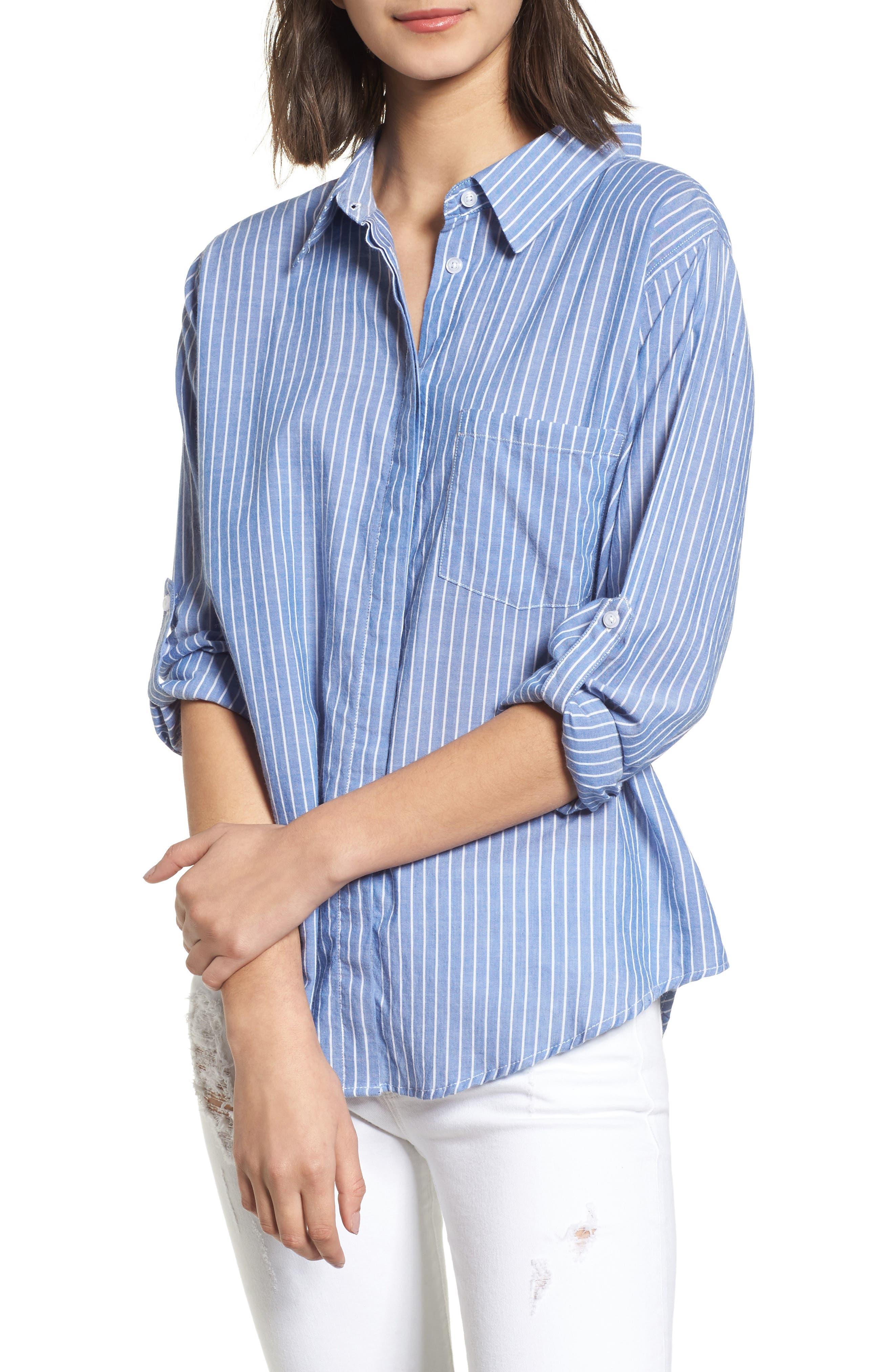 Mimi Stripe Shirt,                             Main thumbnail 1, color,                             494