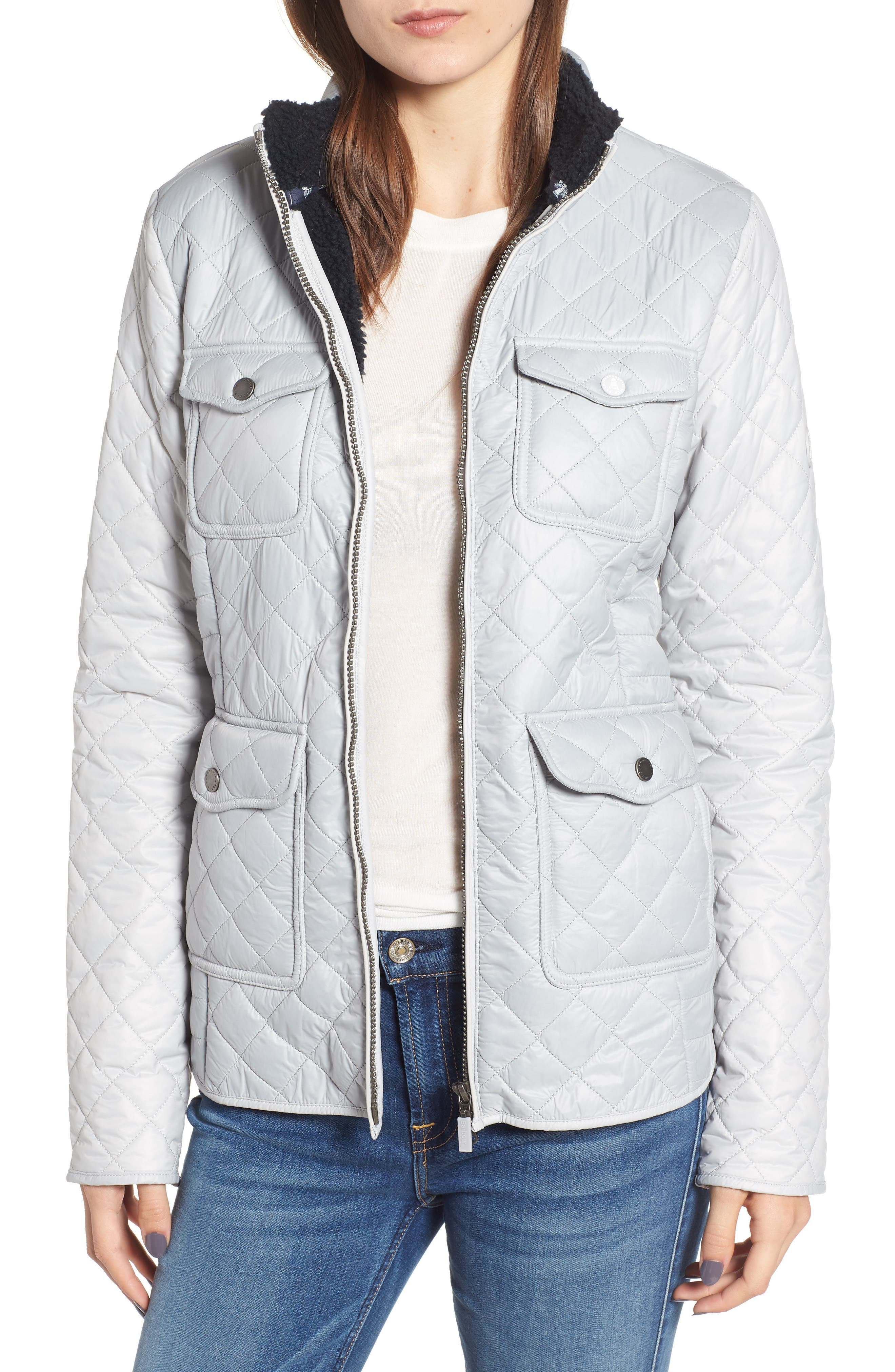 Barbour Weymouth Quilted Jacket, US / 8 UK - White