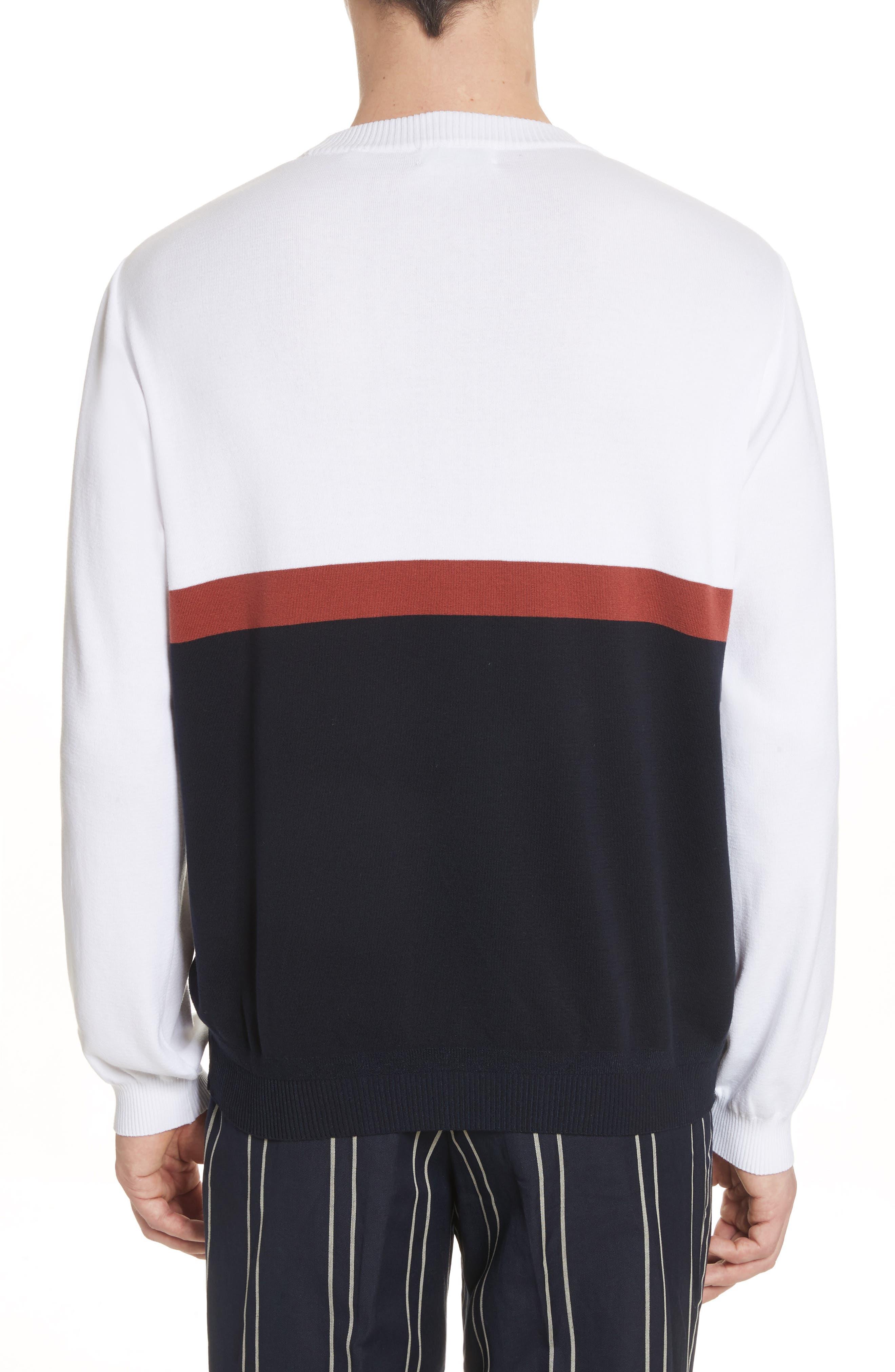 Colorblock Crewneck Sweater,                             Alternate thumbnail 2, color,                             100
