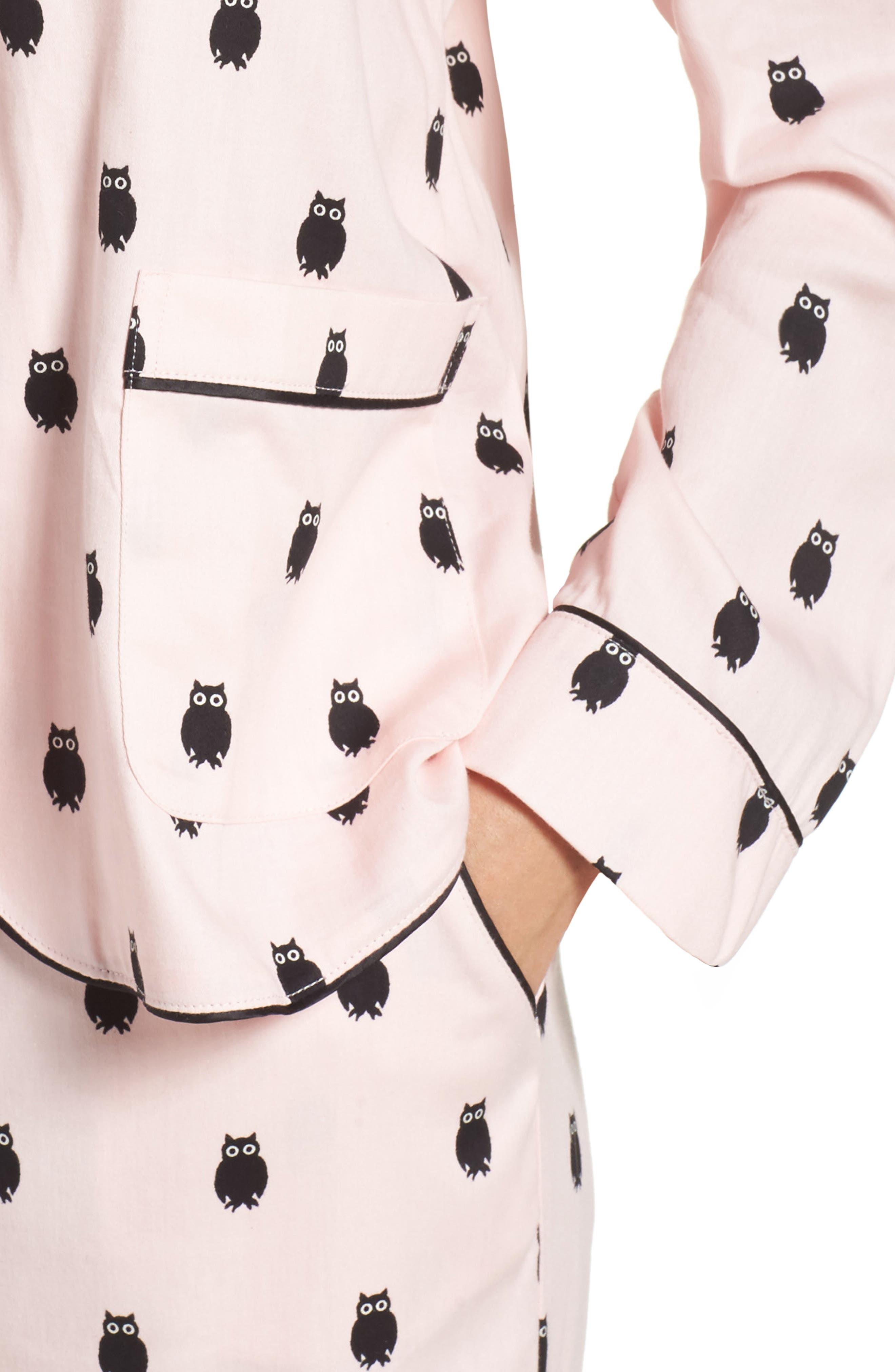 crop pajamas,                             Alternate thumbnail 4, color,                             650