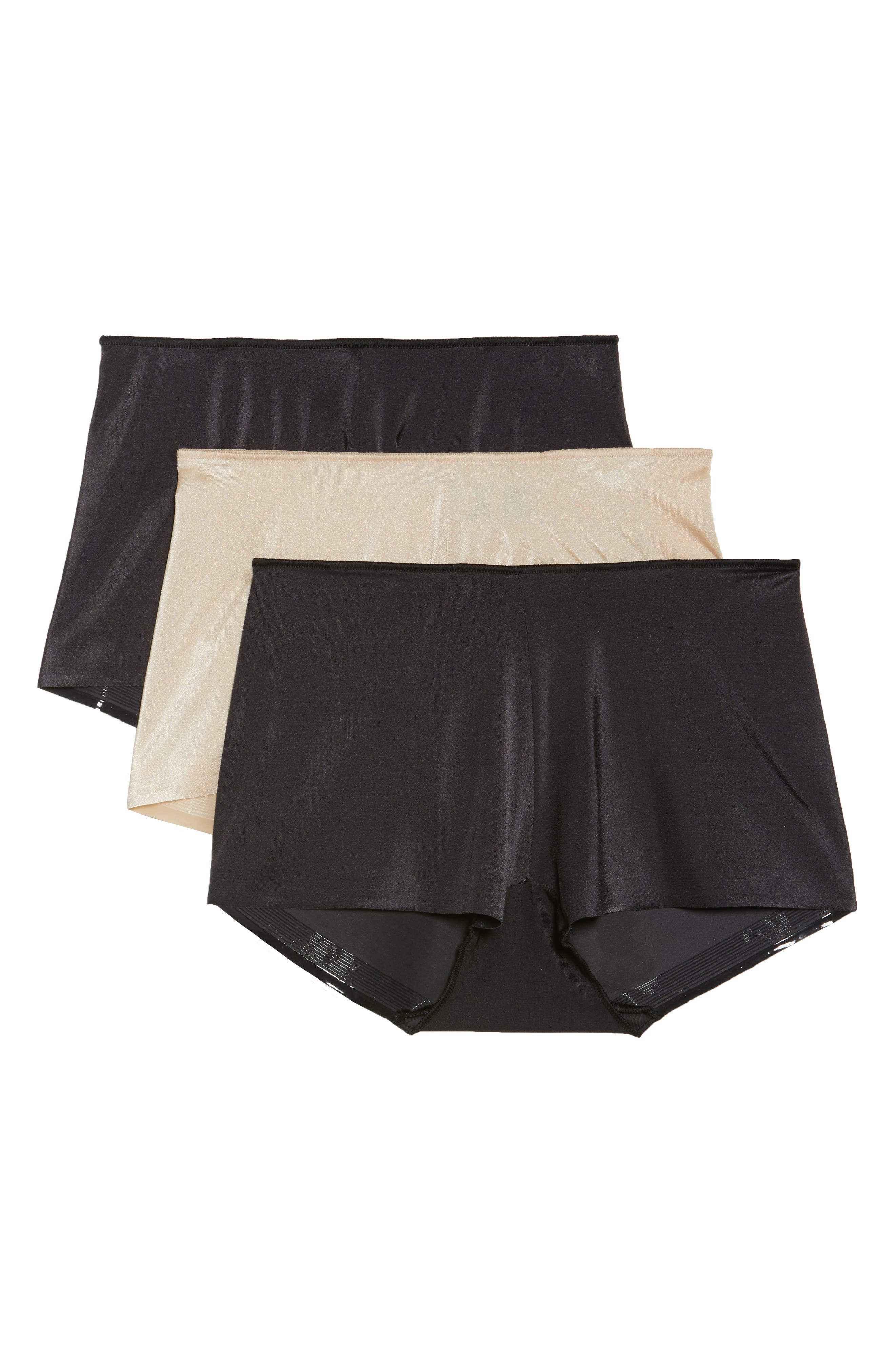 3-Pack High Waist Boyshorts,                             Main thumbnail 1, color,                             BLACK/ NUDE