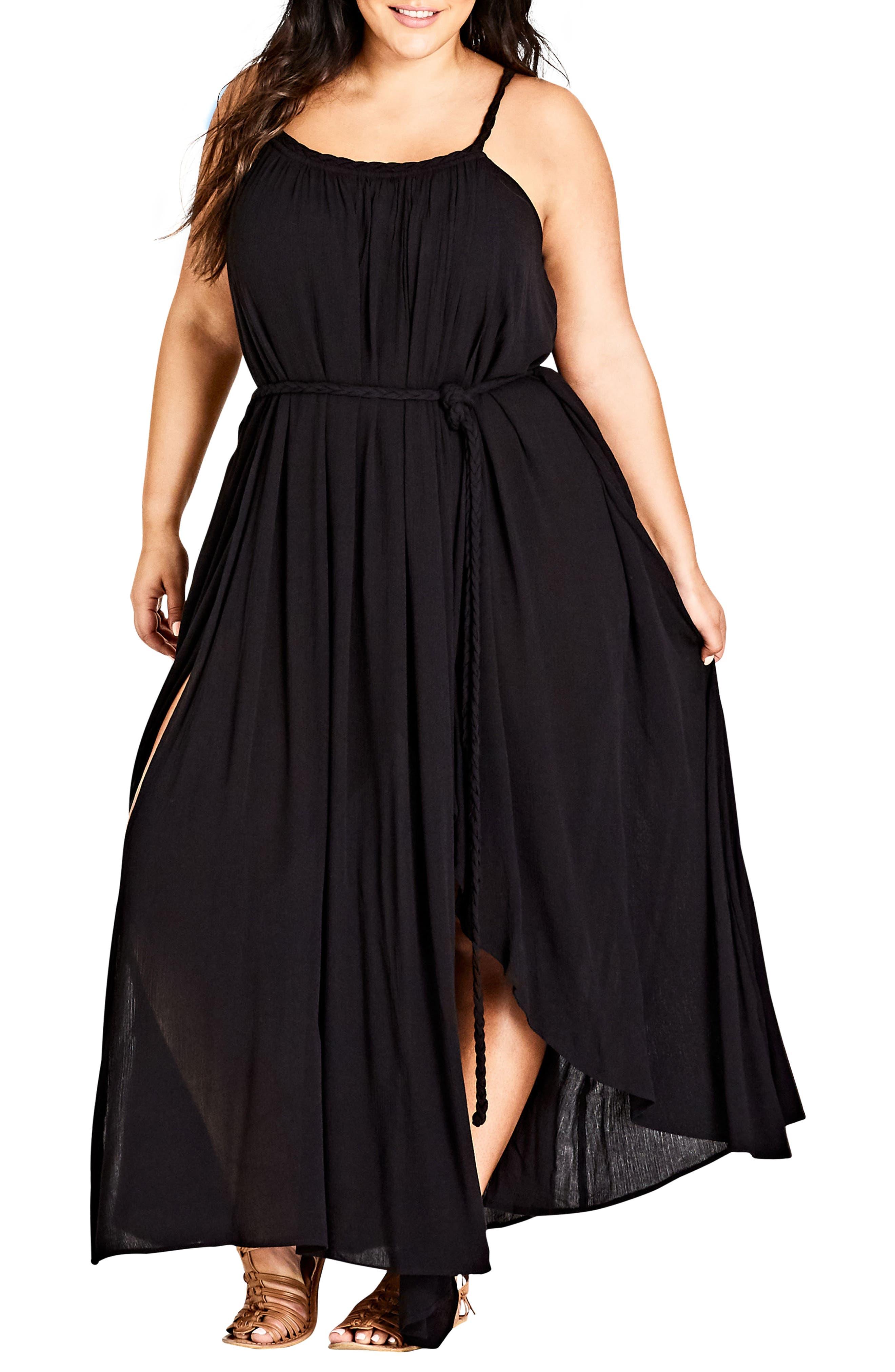 Happy Feels Maxi Dress,                             Main thumbnail 1, color,                             BLACK