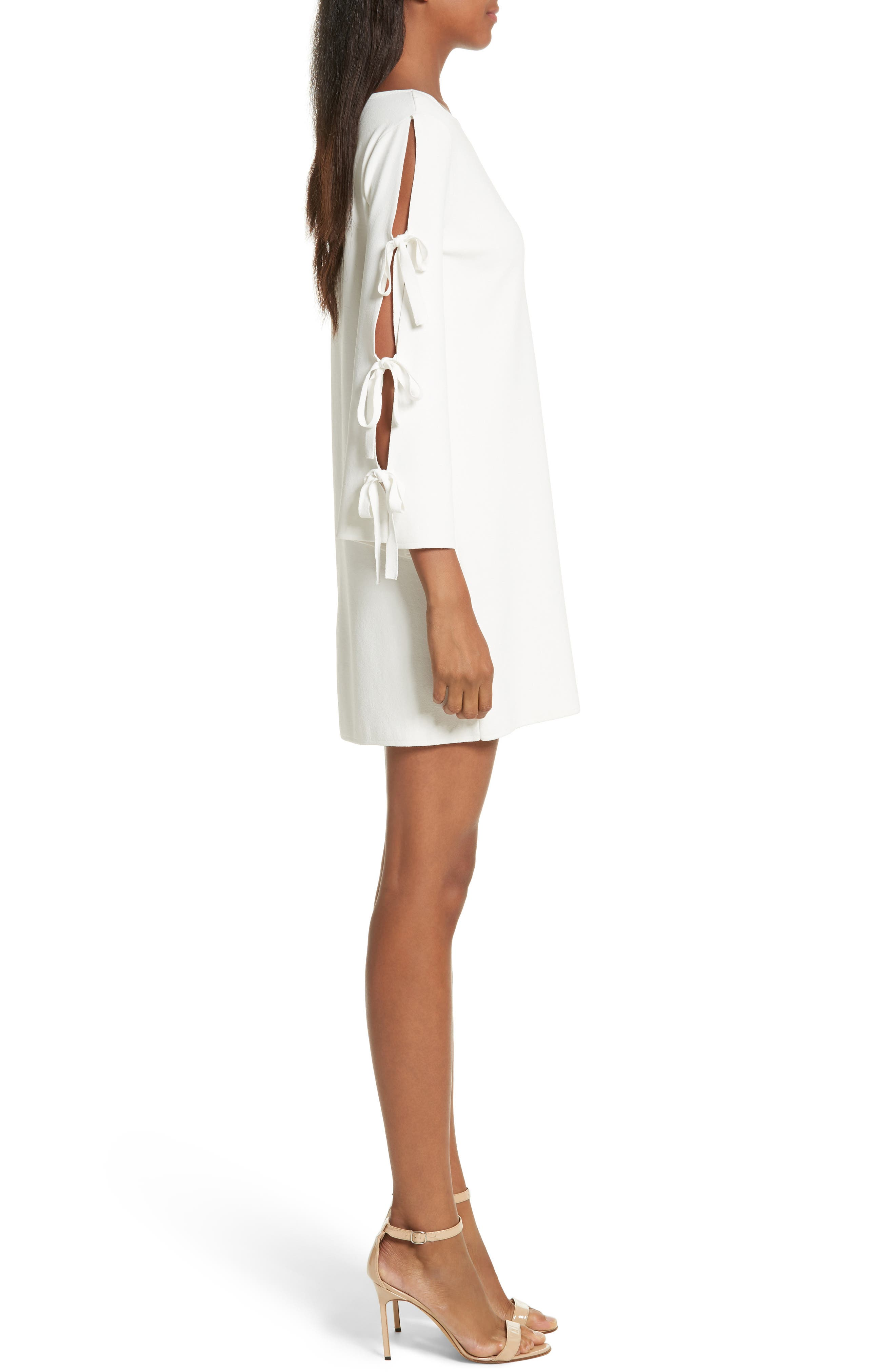 Tied Bell Sleeve Shift Dress,                             Alternate thumbnail 3, color,                             150
