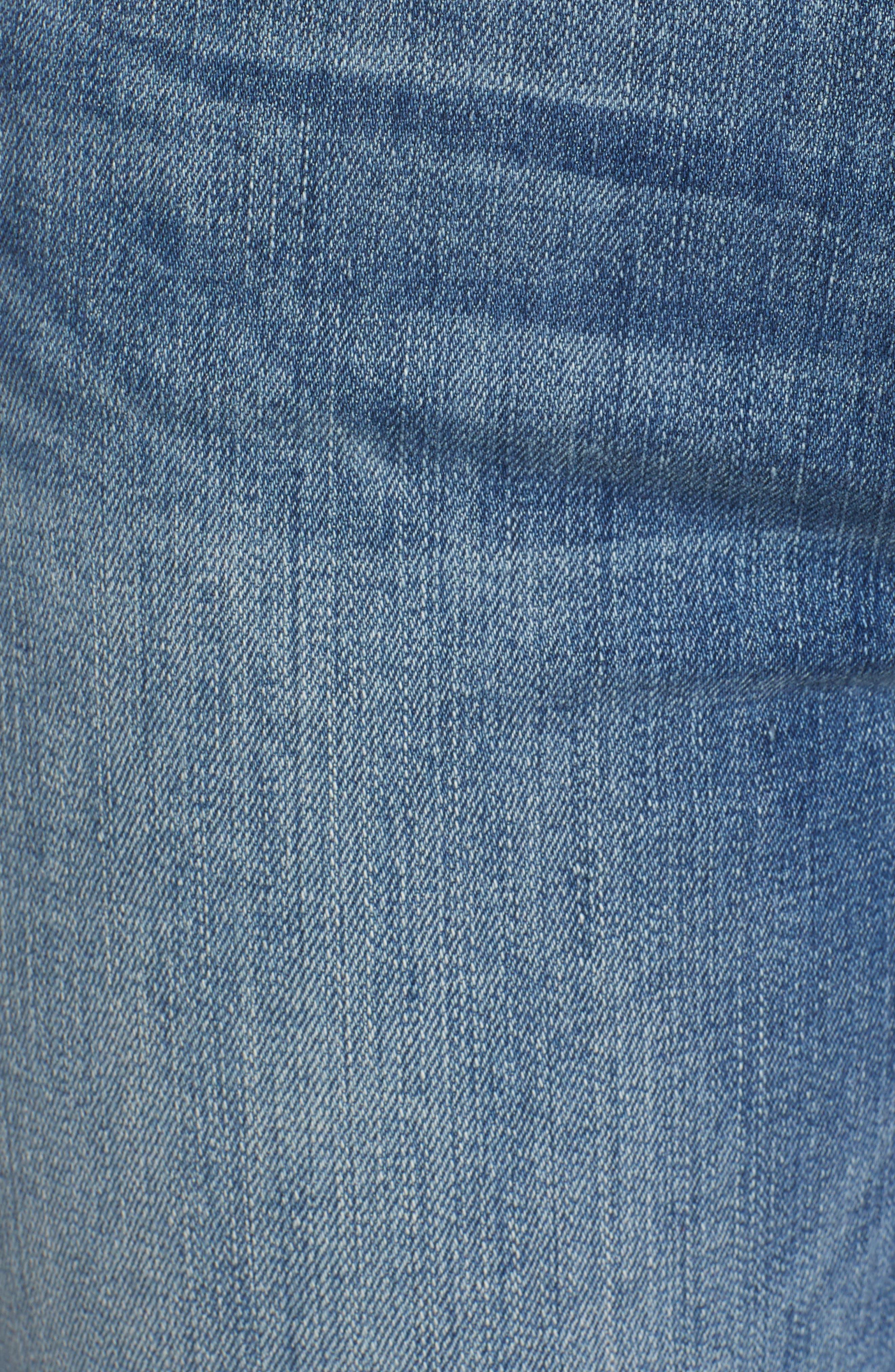 Good Straight Raw Hem Straight Leg Jeans,                             Alternate thumbnail 6, color,                             401