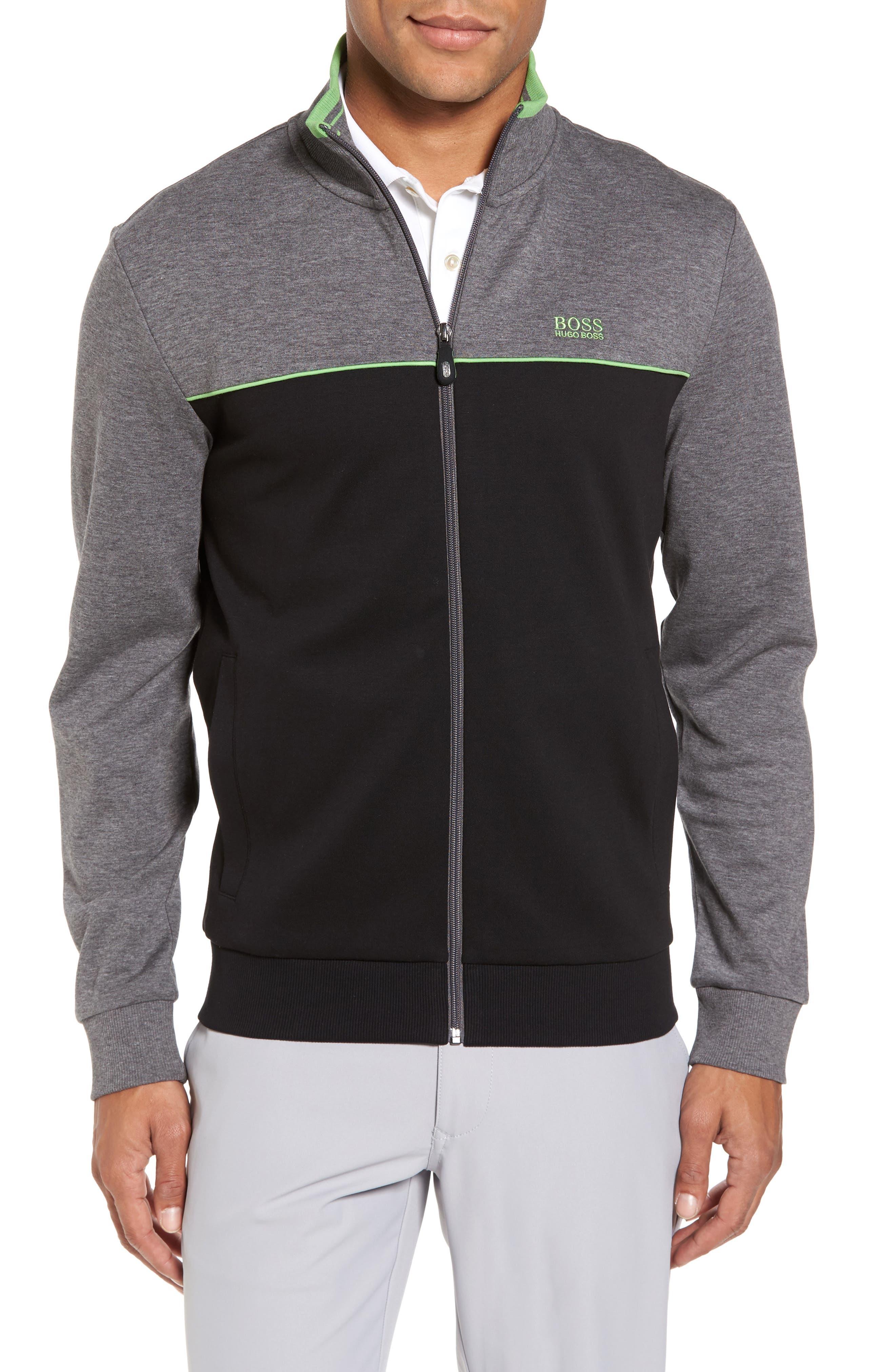 Skaz Full Zip Fleece Jacket,                         Main,                         color, BLACK