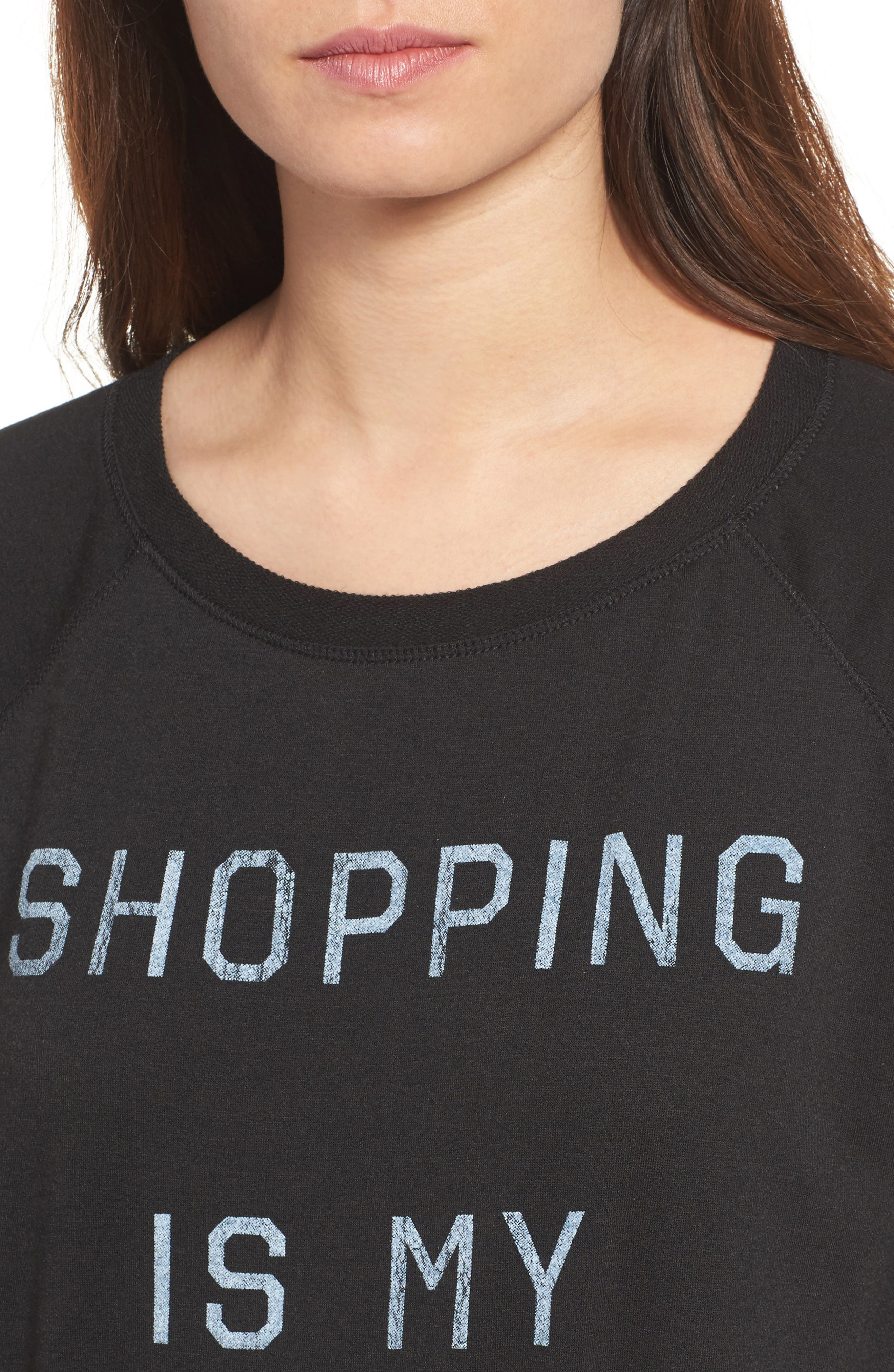 Shopping is My Cardio Tee,                             Alternate thumbnail 4, color,                             001