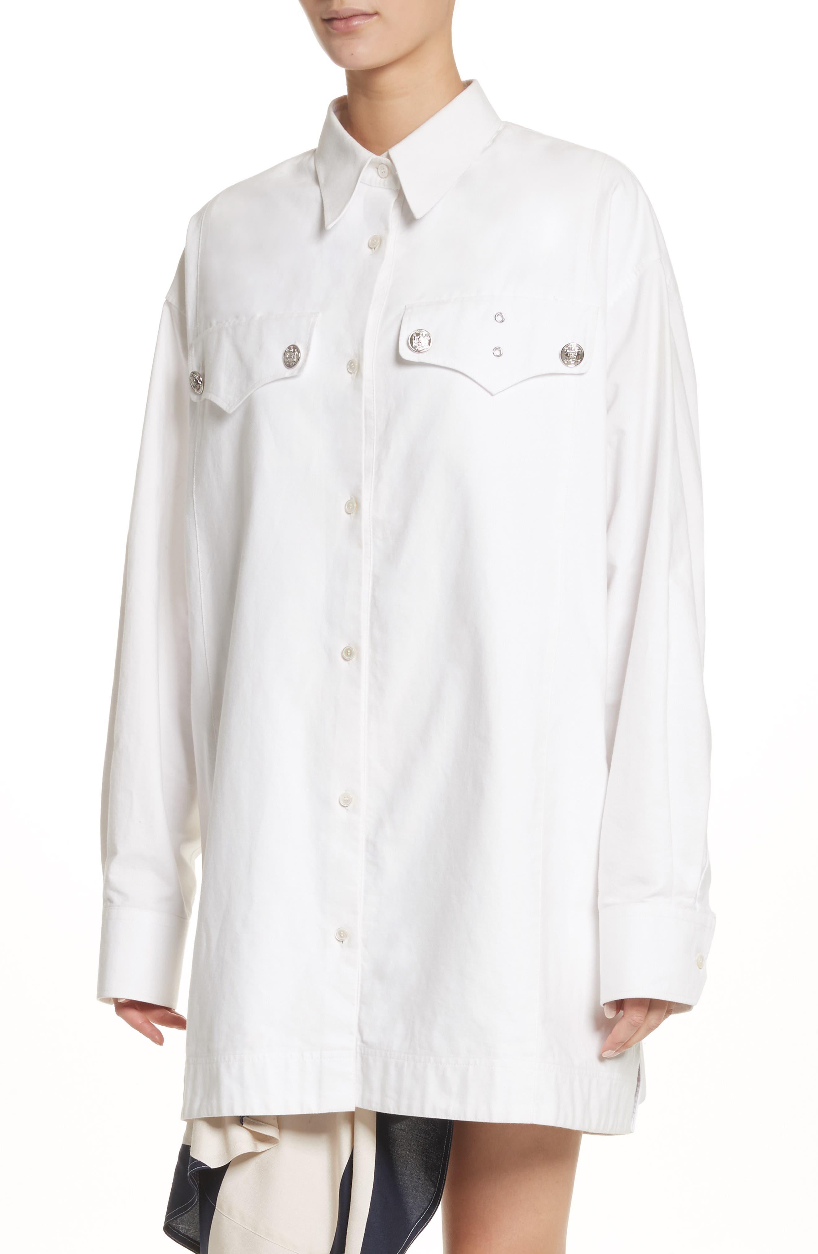 Oversize Policeman Shirt,                             Alternate thumbnail 4, color,                             100