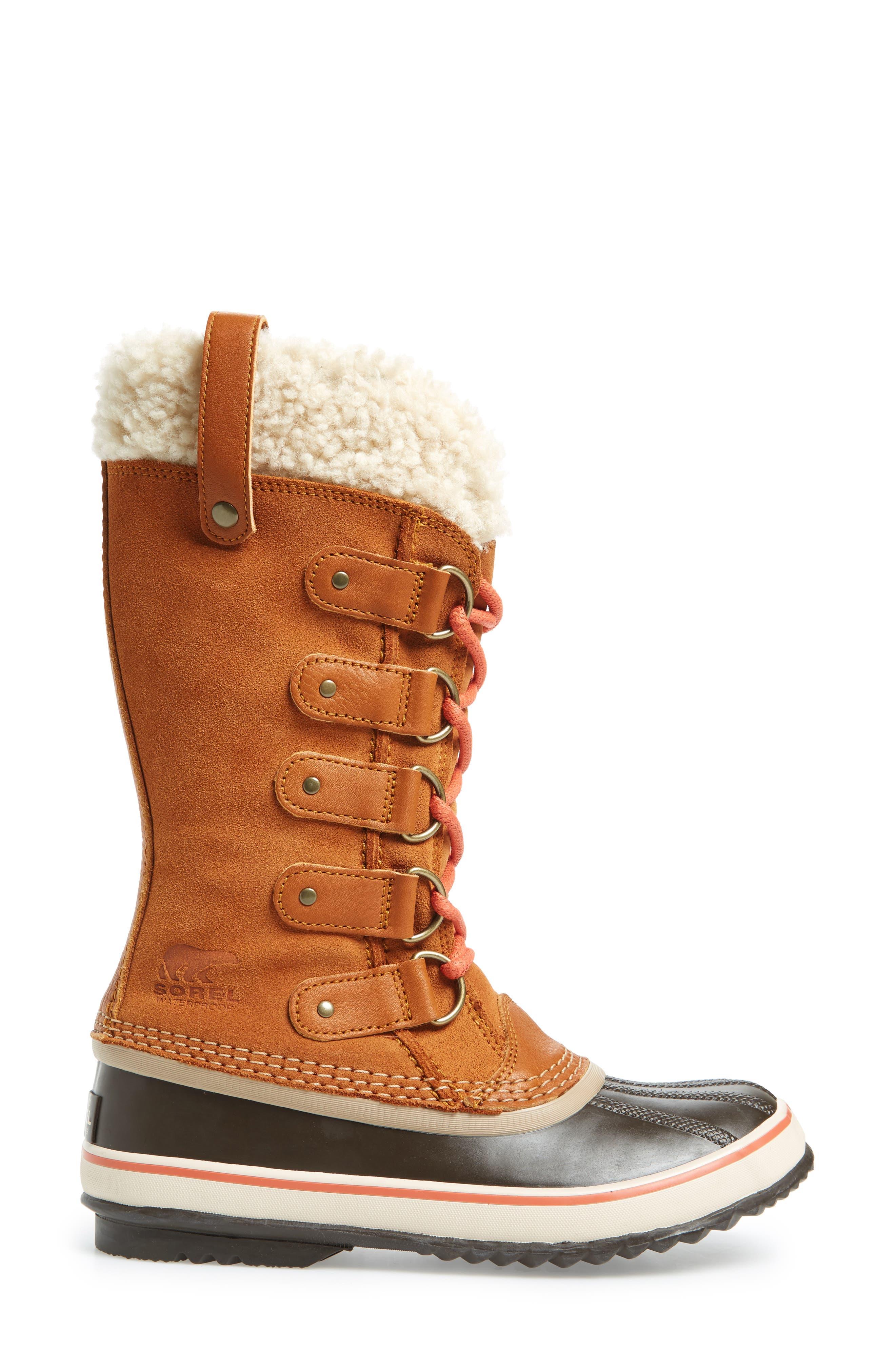 Joan of Arctic Genuine Shearling Waterproof Boot,                             Alternate thumbnail 10, color,